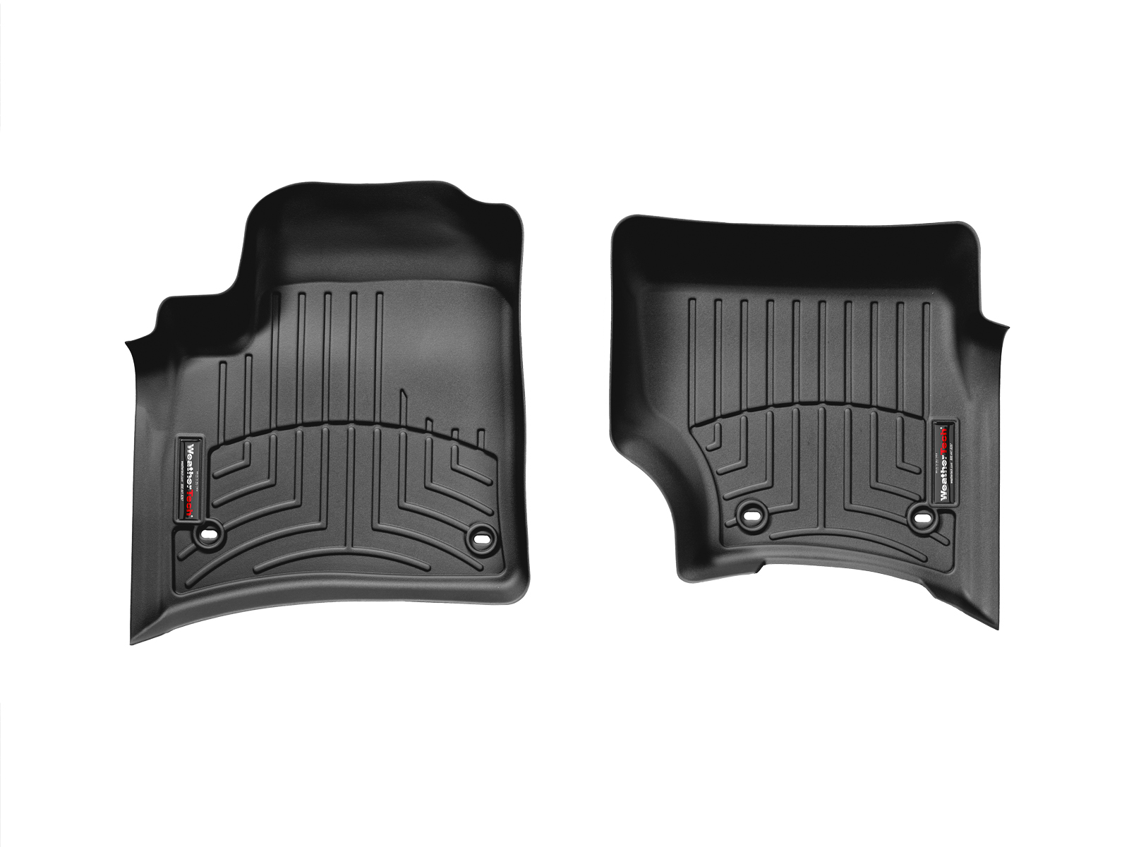 Tappeti gomma su misura bordo alto Volkswagen Touareg 02>06 Nero A4283*