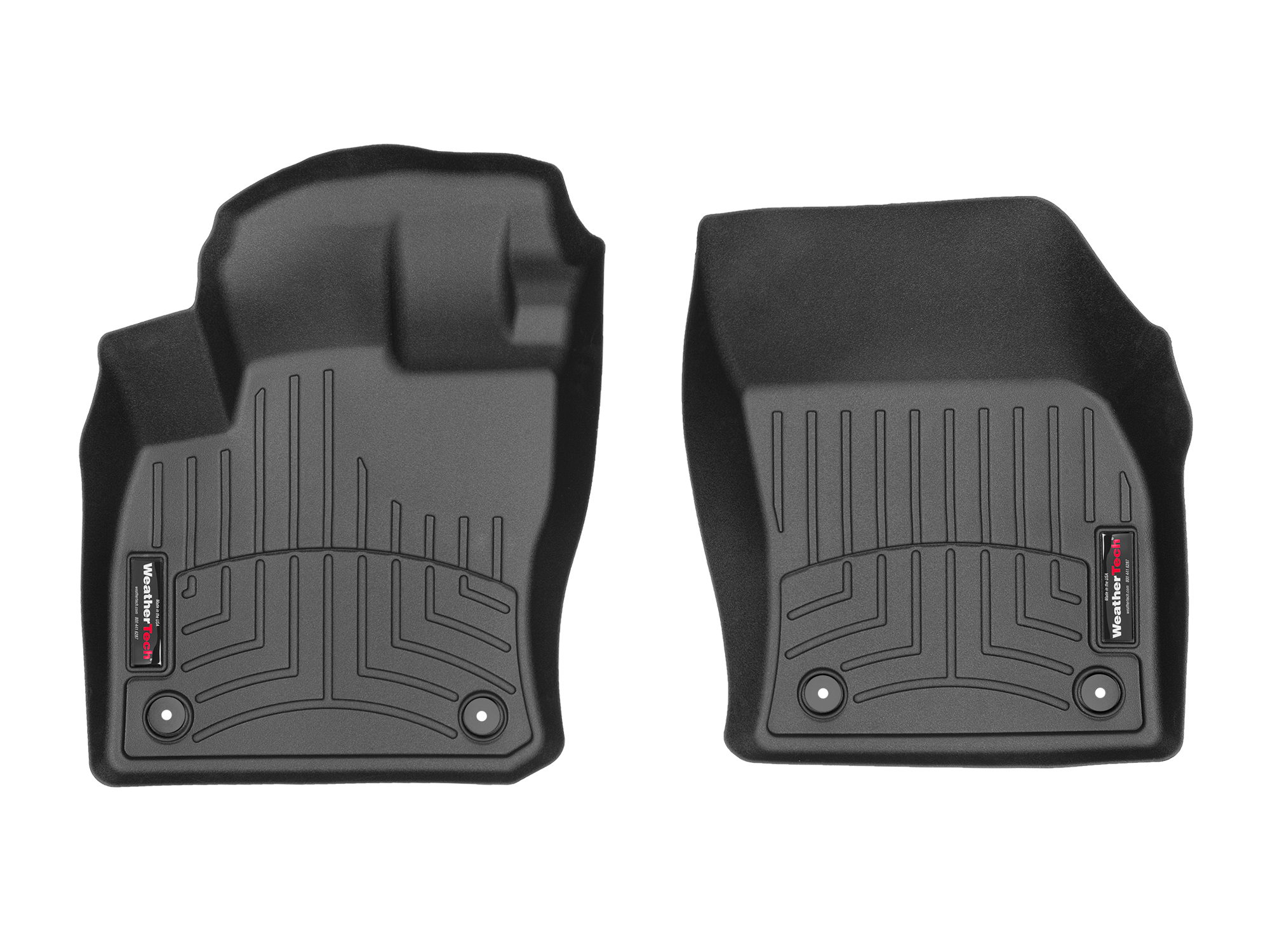 Tappeti gomma su misura bordo alto Volkswagen Tiguan 17>17 Nero A4275*