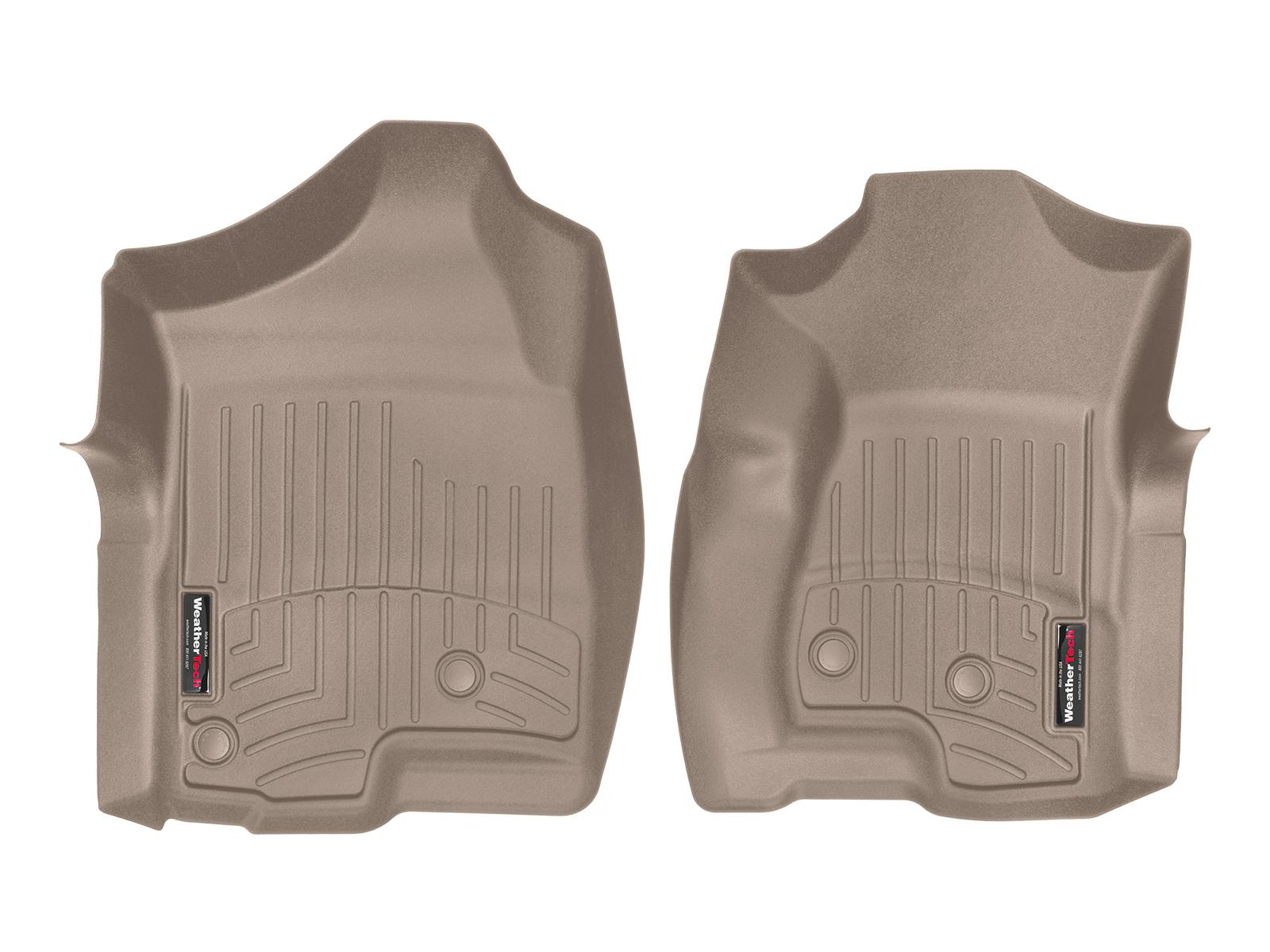 Tappeti gomma su misura bordo alto Chevrolet Silverado 1999>06 Marrone A203