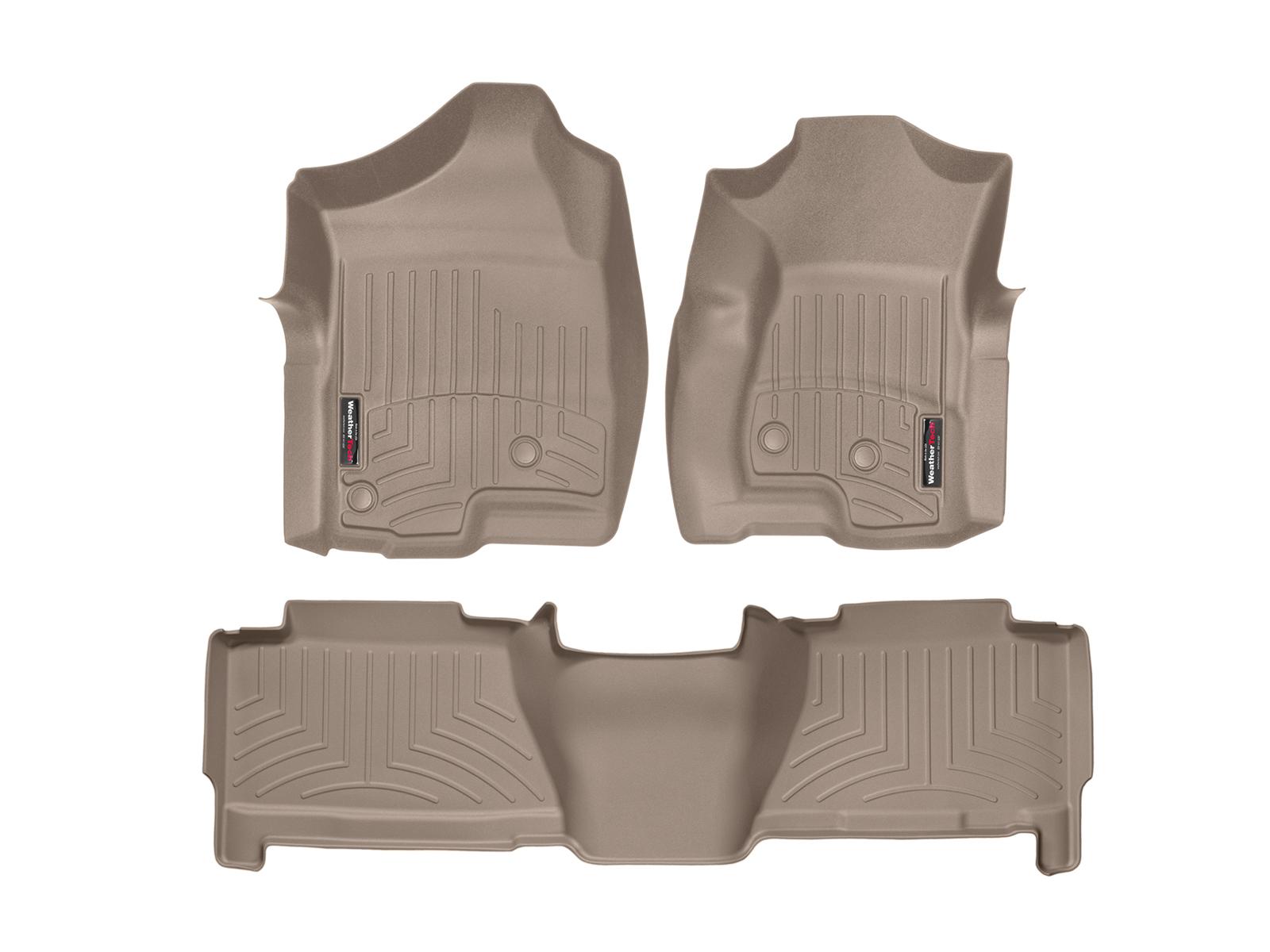 Tappeti gomma su misura bordo alto Chevrolet Silverado 07>07 Marrone A164
