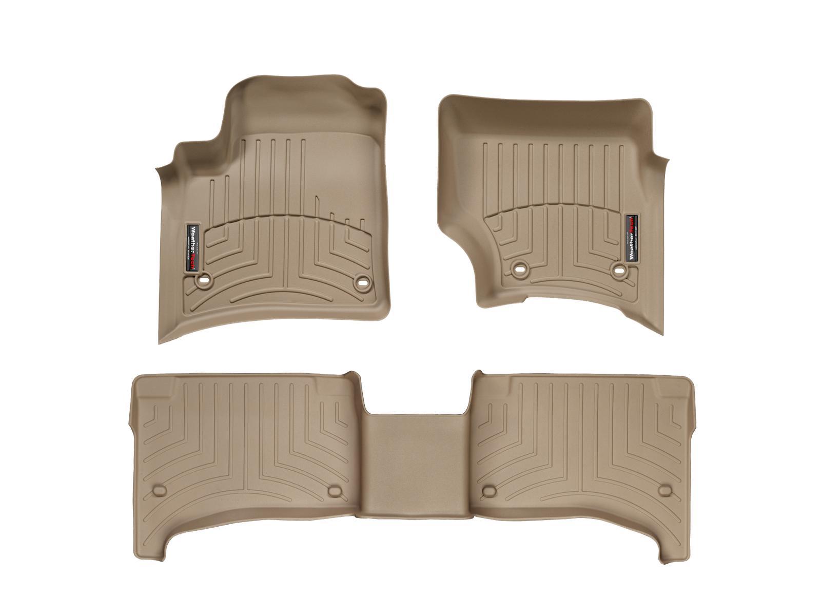 Tappeti gomma su misura bordo alto Volkswagen Touareg 07>08 Marrone A4294*