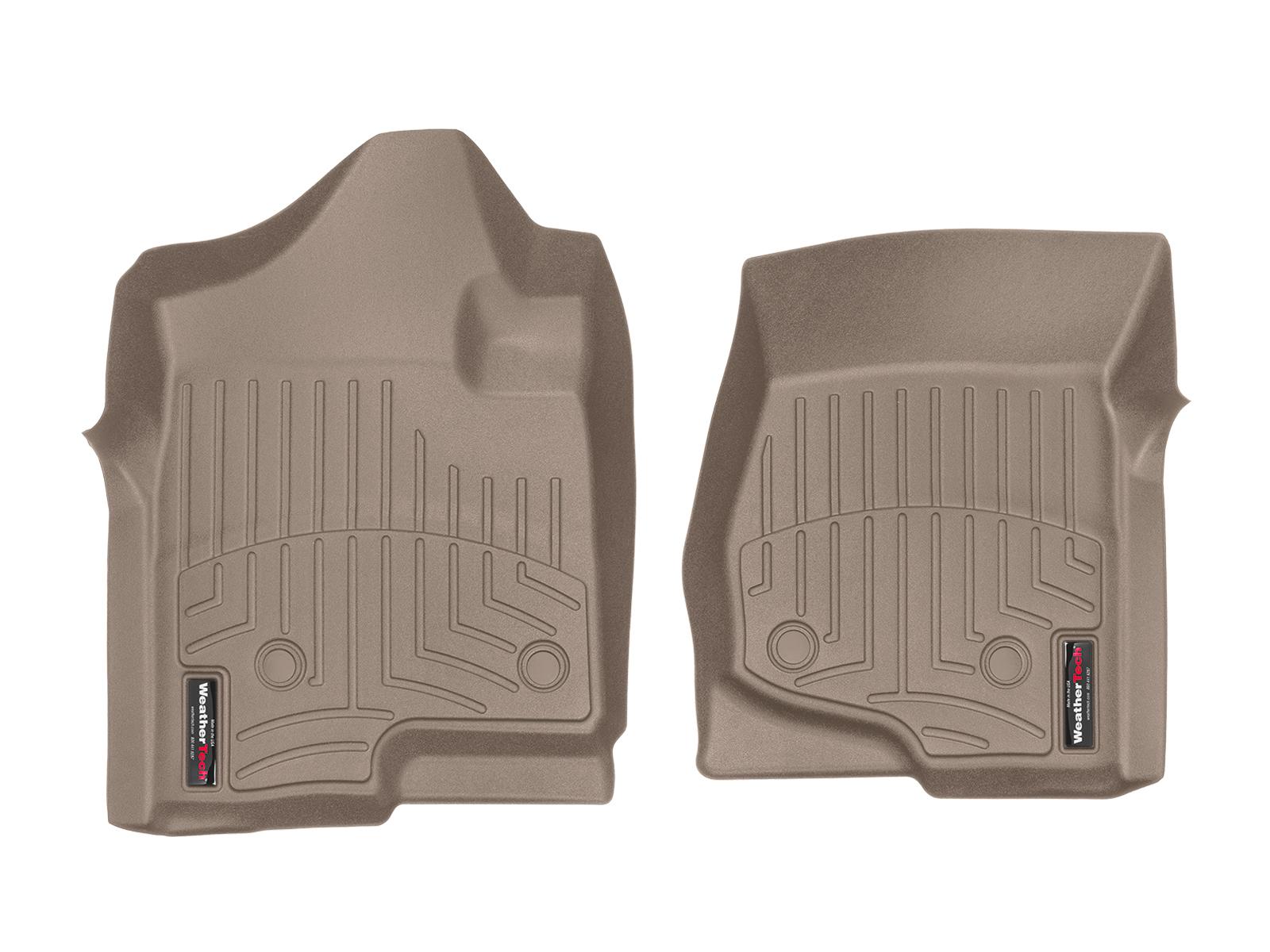 Tappeti gomma su misura bordo alto Chevrolet Silverado 14>14 Marrone A184