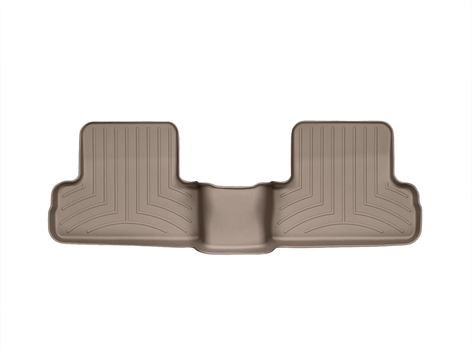 Tappeti gomma su misura bordo alto Nissan X-Trail 07>07 Marrone A2922