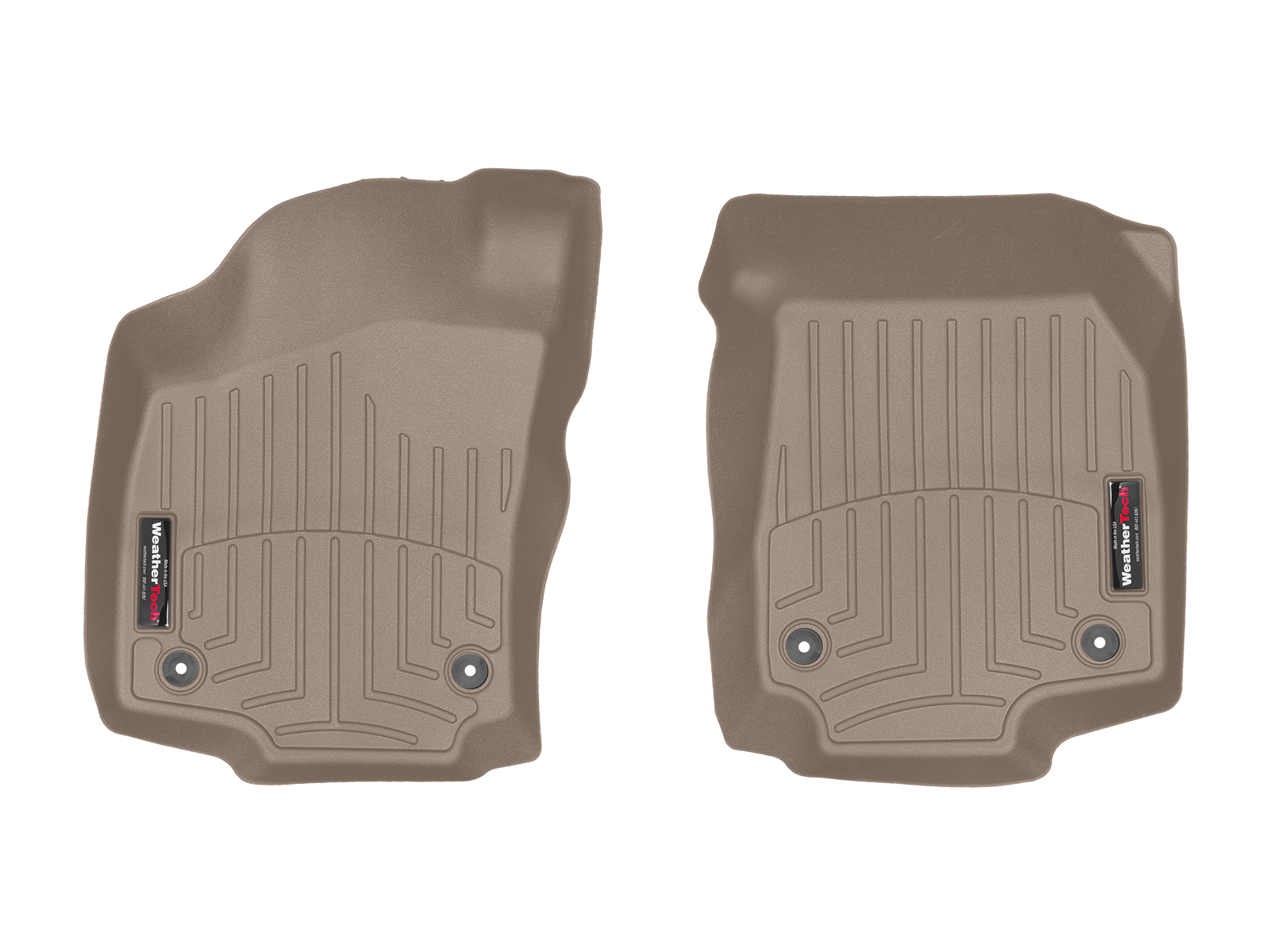 Tappeti gomma su misura bordo alto Opel Astra 04>08 Marrone A2954