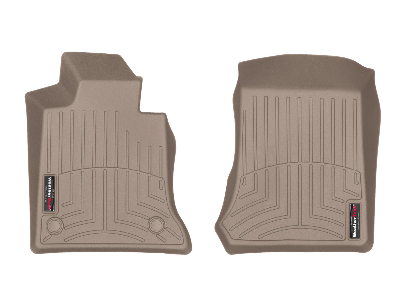 Tappeti gomma su misura bordo alto Mercedes GLK-Class 09>11 Marrone A2488