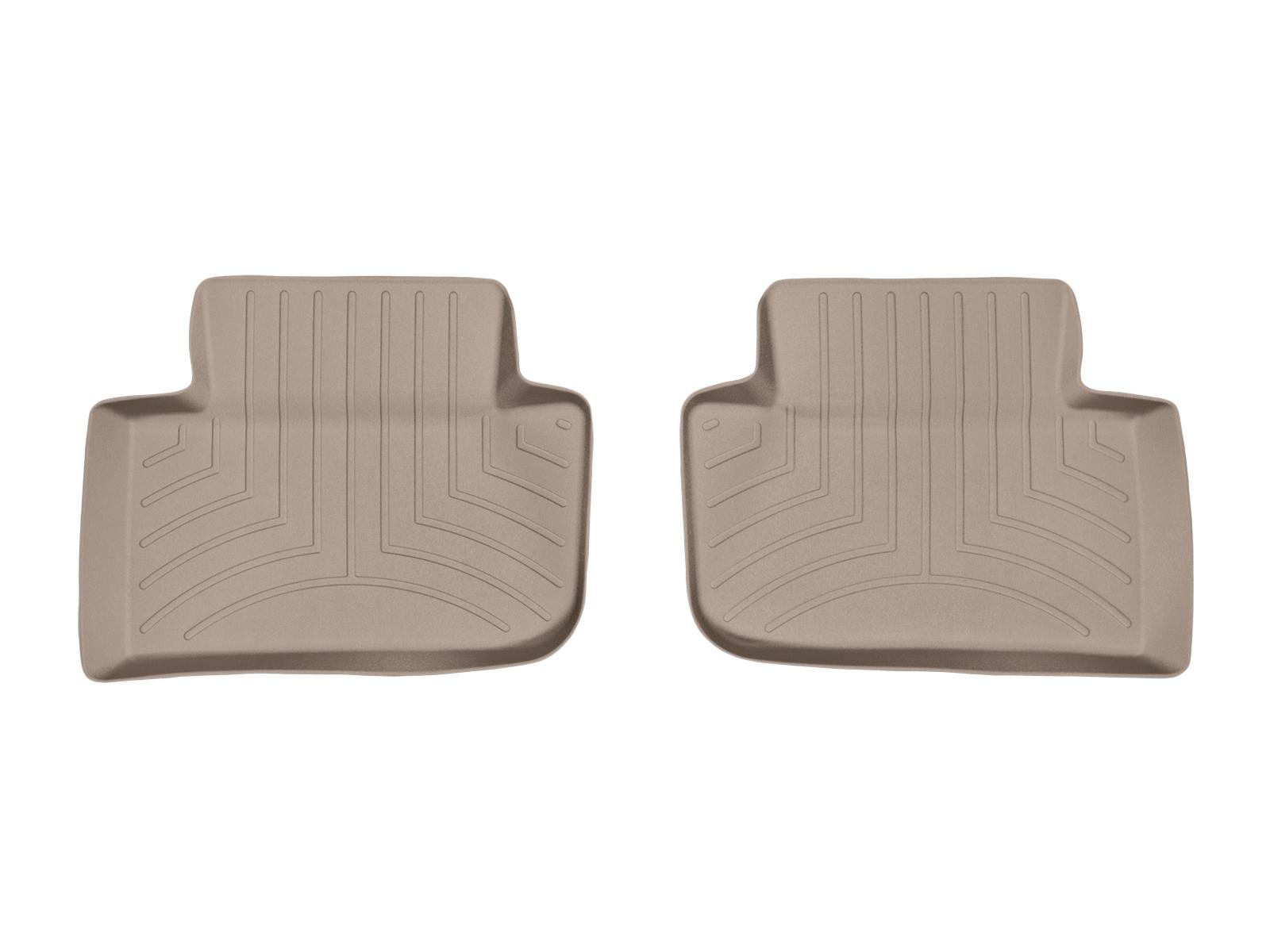 Tappeti gomma su misura bordo alto Porsche® Macan 14>17 Marrone A3166
