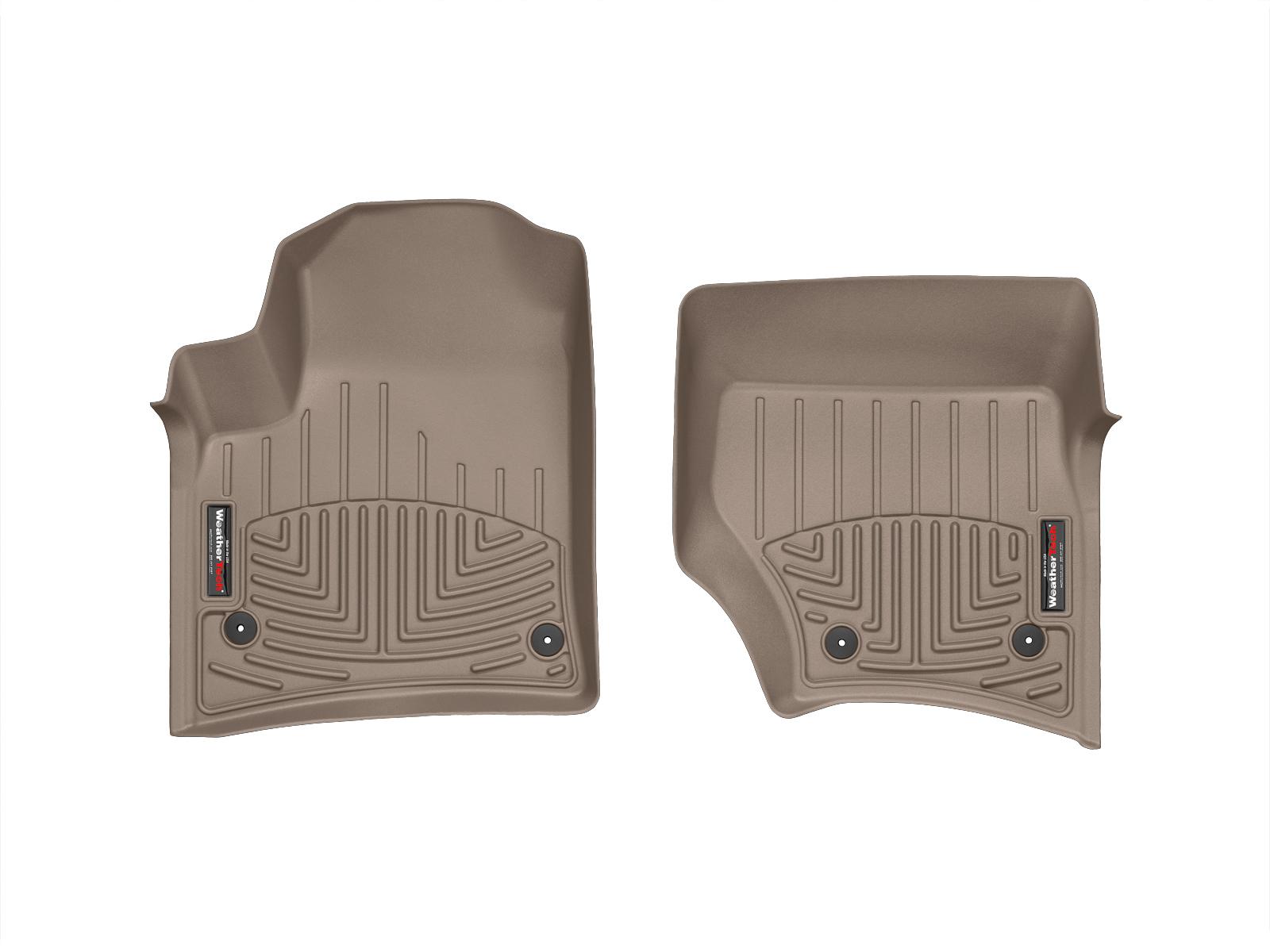 Tappeti gomma su misura bordo alto Volkswagen Touareg 07>08 Marrone A4292*