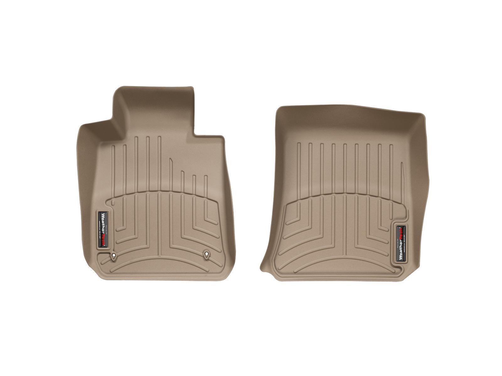 BMW Serie 1 (E81/E82/E87/E88) 04>11 Tappeti gomma su misura bordo alto marrone