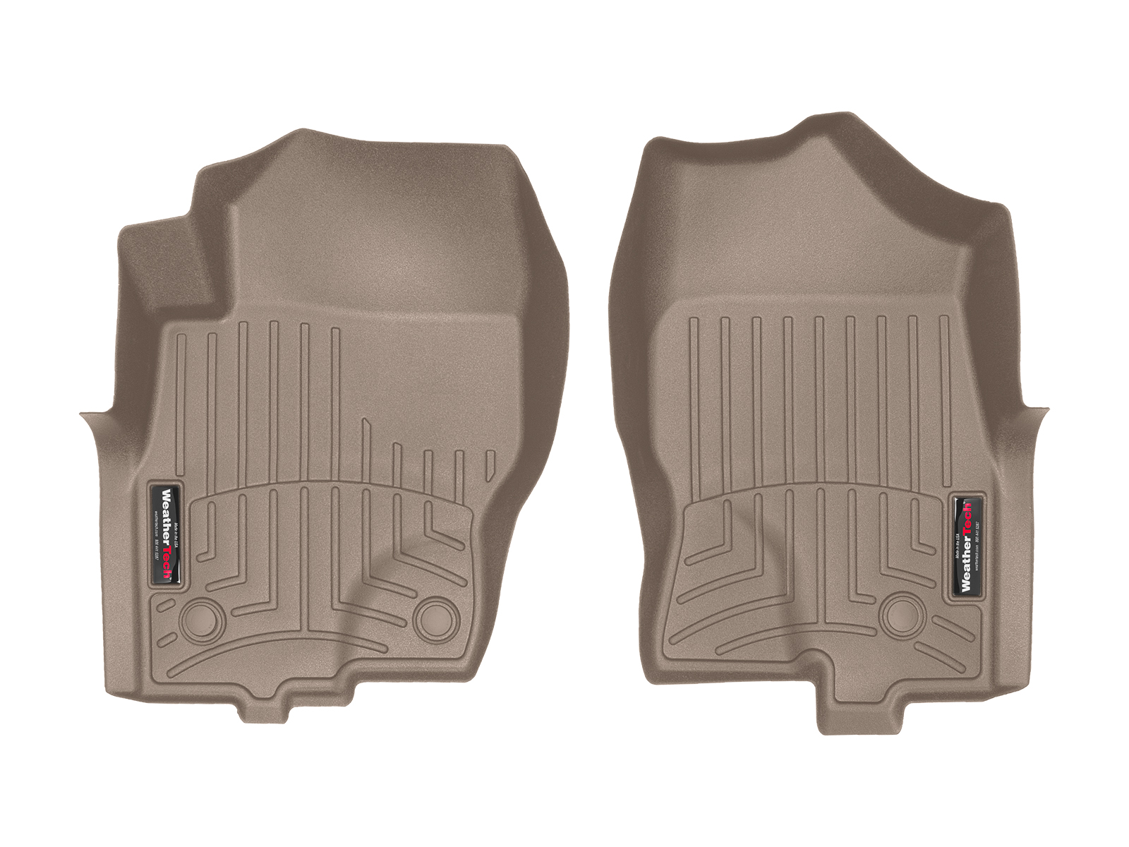 Tappeti gomma su misura bordo alto Nissan Navara 10>15 Marrone A2893