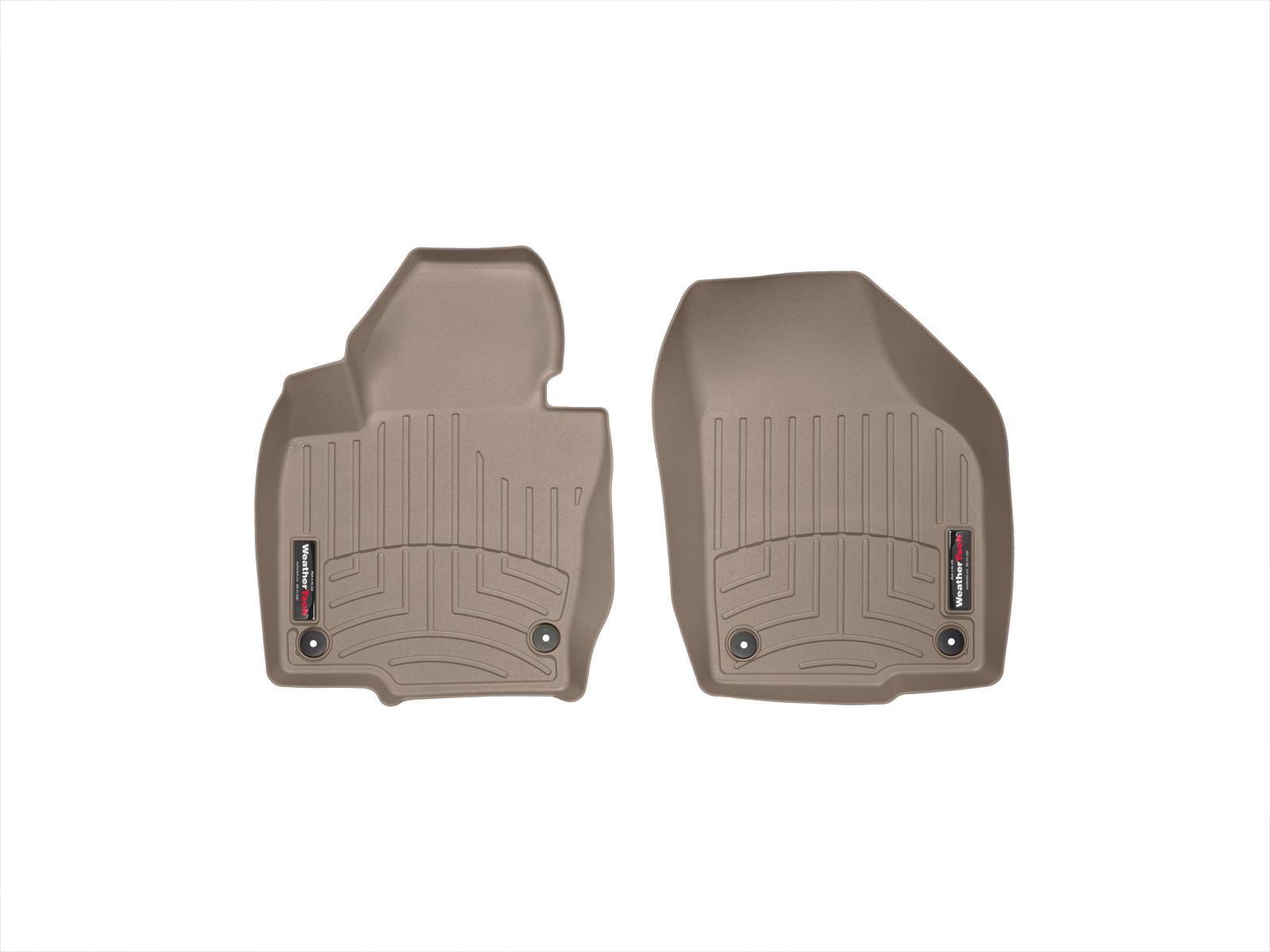 Tappeti gomma su misura bordo alto Volkswagen Tiguan 08>15 Marrone A4263*