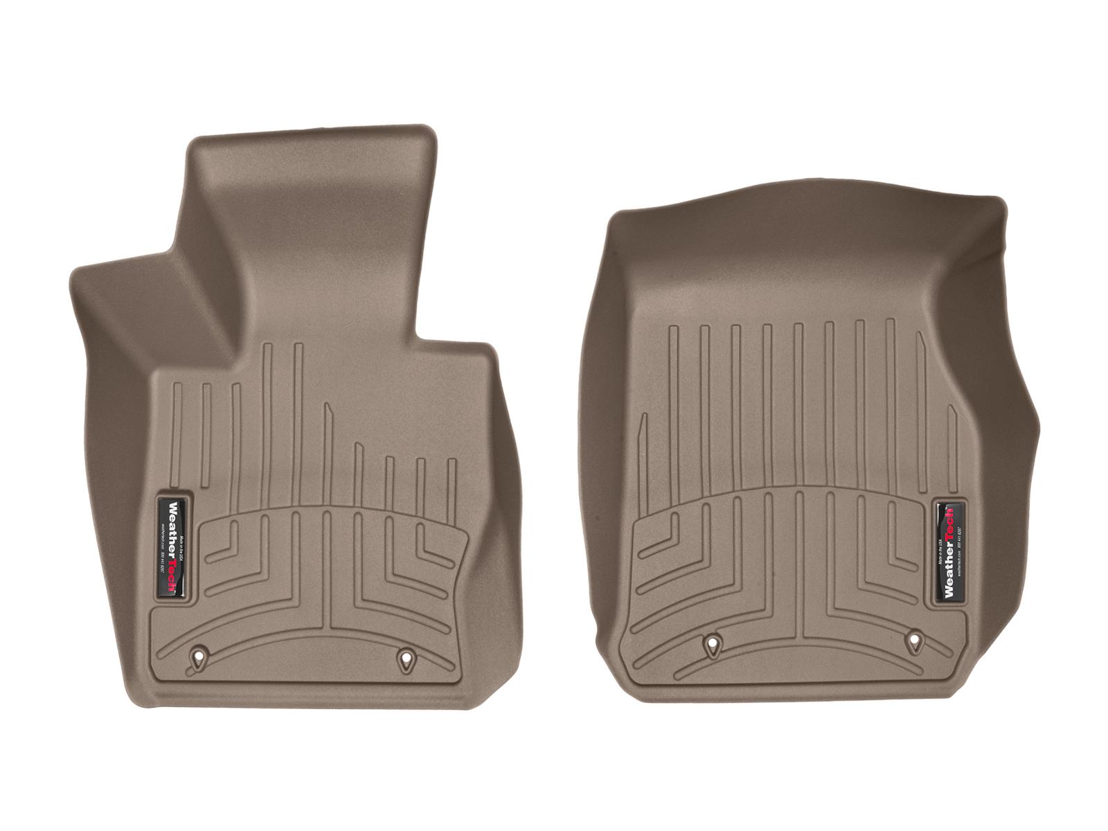 BMW Serie 2 (F22/F23) 14>17 Tappeti gomma su misura bordo alto marrone*