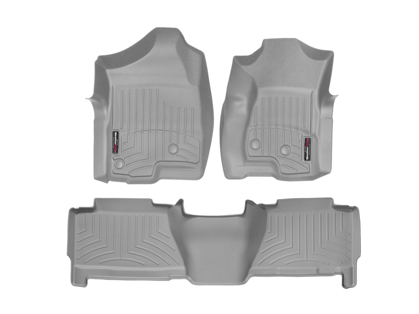 Tappeti gomma su misura bordo alto Chevrolet Silverado 01>06 Grigio A149