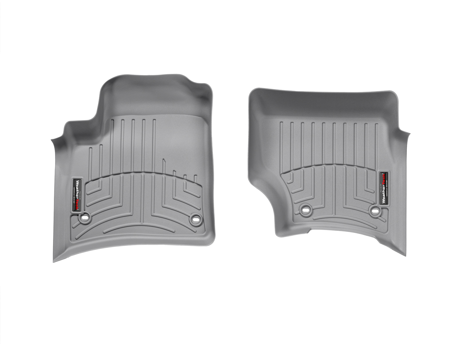 Tappeti gomma su misura bordo alto Volkswagen Touareg 02>06 Grigio A4277*