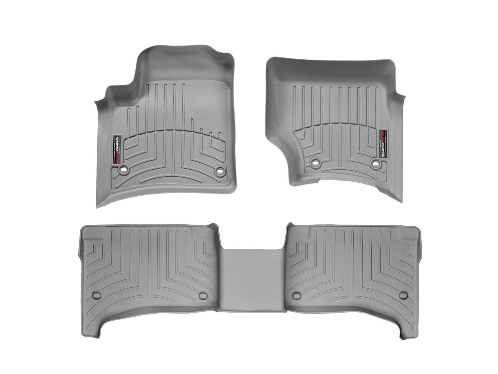 Tappeti gomma su misura bordo alto Volkswagen Touareg 02>06 Grigio A4278*