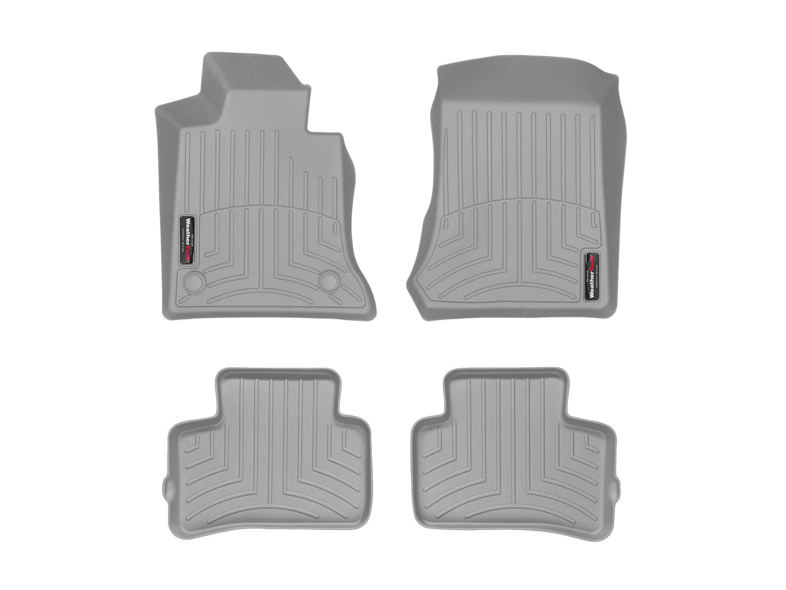 Tappeti gomma su misura bordo alto Mercedes GLK-Class 12>12 Grigio A2497