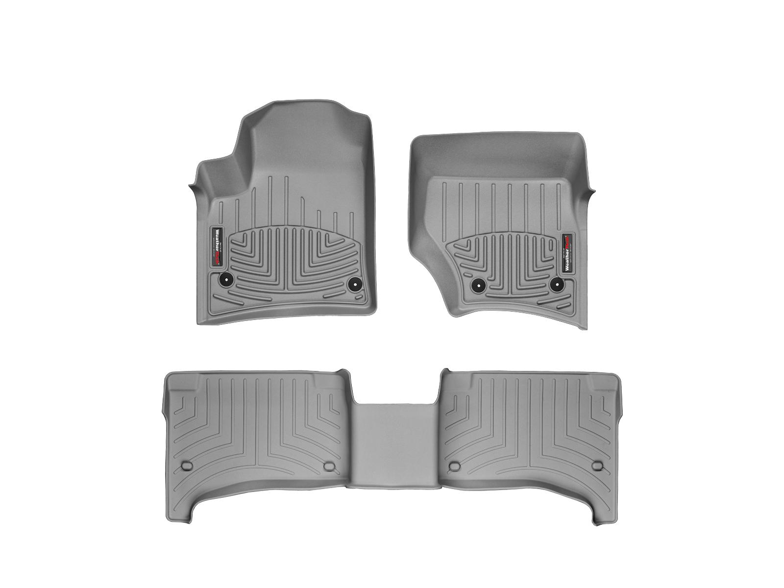 Tappeti gomma su misura bordo alto Volkswagen Touareg 07>08 Grigio A4289*
