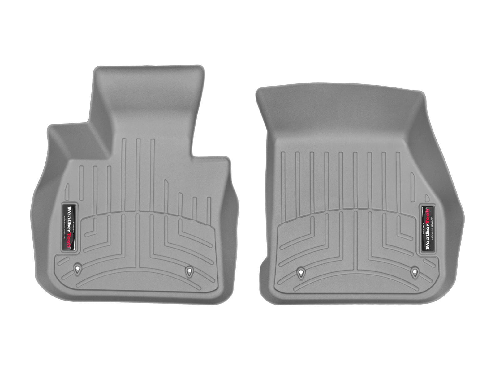 BMW Serie 2 Gran Tourer 15>17 Tappeti gomma su misura bordo alto grigio