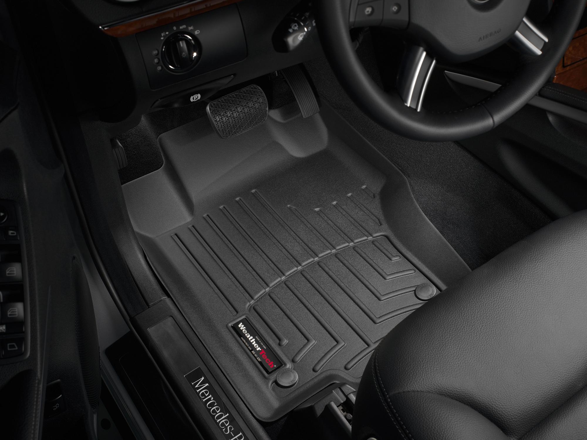 Tappeti gomma su misura bordo alto Mercedes ML-Class 06>11 Nero A2529