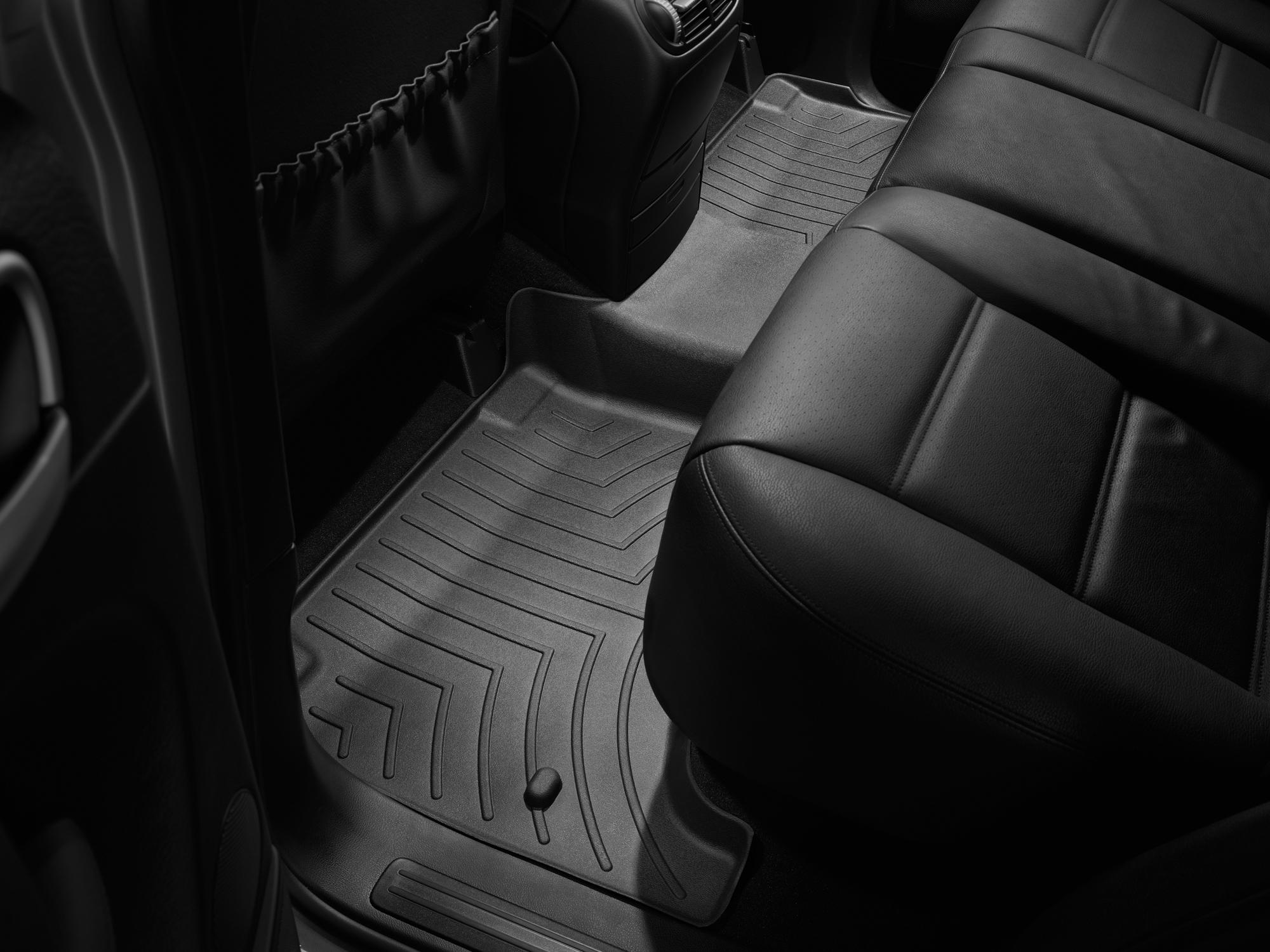 Tappeti gomma su misura bordo alto Volkswagen Touareg 09>09 Nero A4309*
