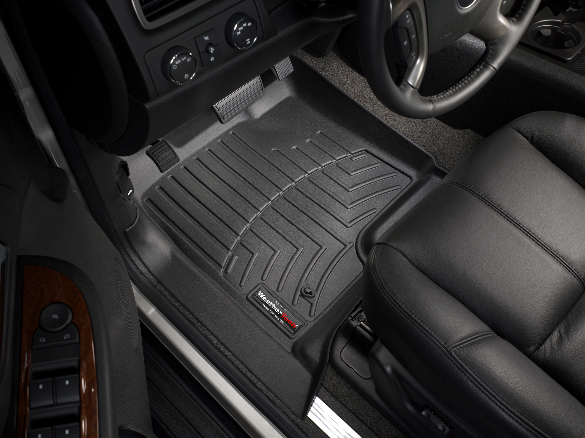 Tappeti gomma su misura bordo alto Chevrolet Silverado 08>13 Nero A178