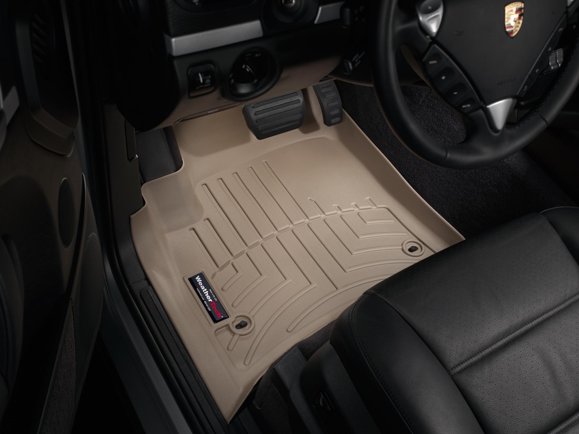 Tappeti gomma su misura bordo alto Volkswagen Touareg 02>06 Marrone A4280*