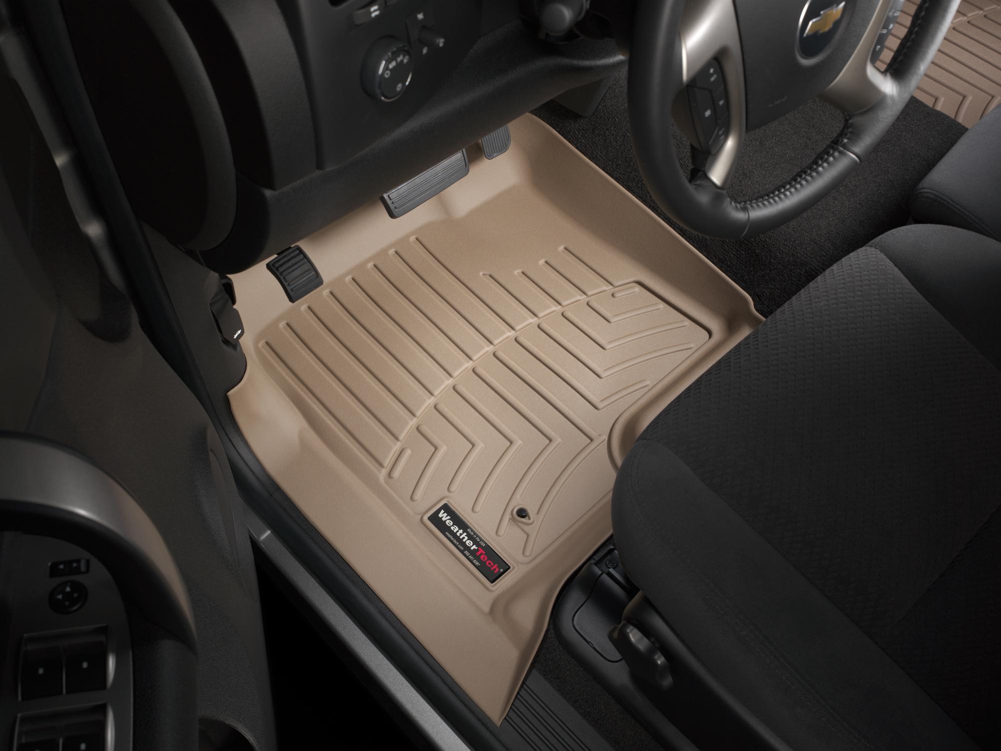 Tappeti gomma su misura bordo alto Chevrolet Silverado 07>07 Marrone A163