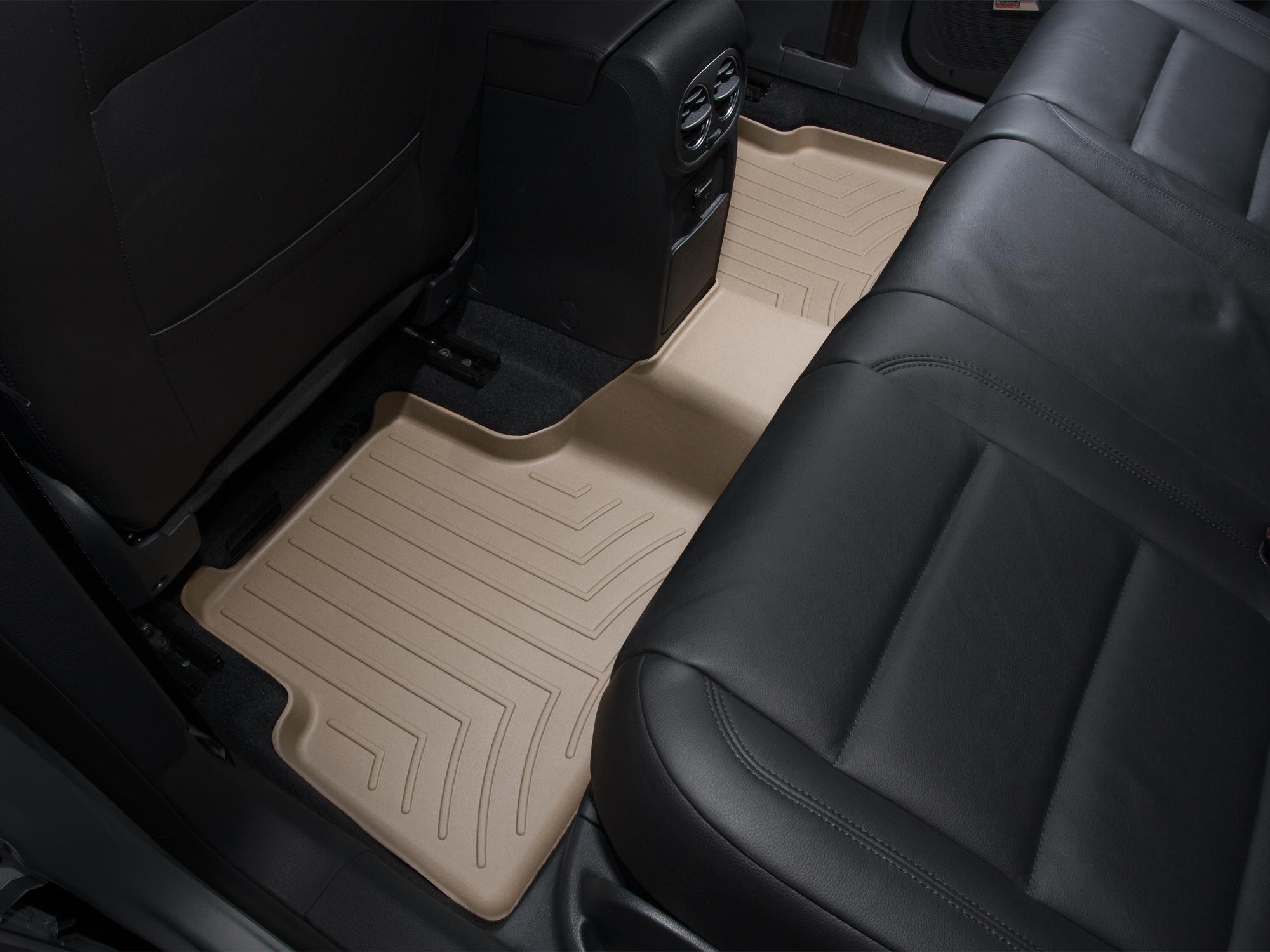 Tappeti gomma su misura bordo alto Volkswagen Tiguan 08>15 Marrone A4264*