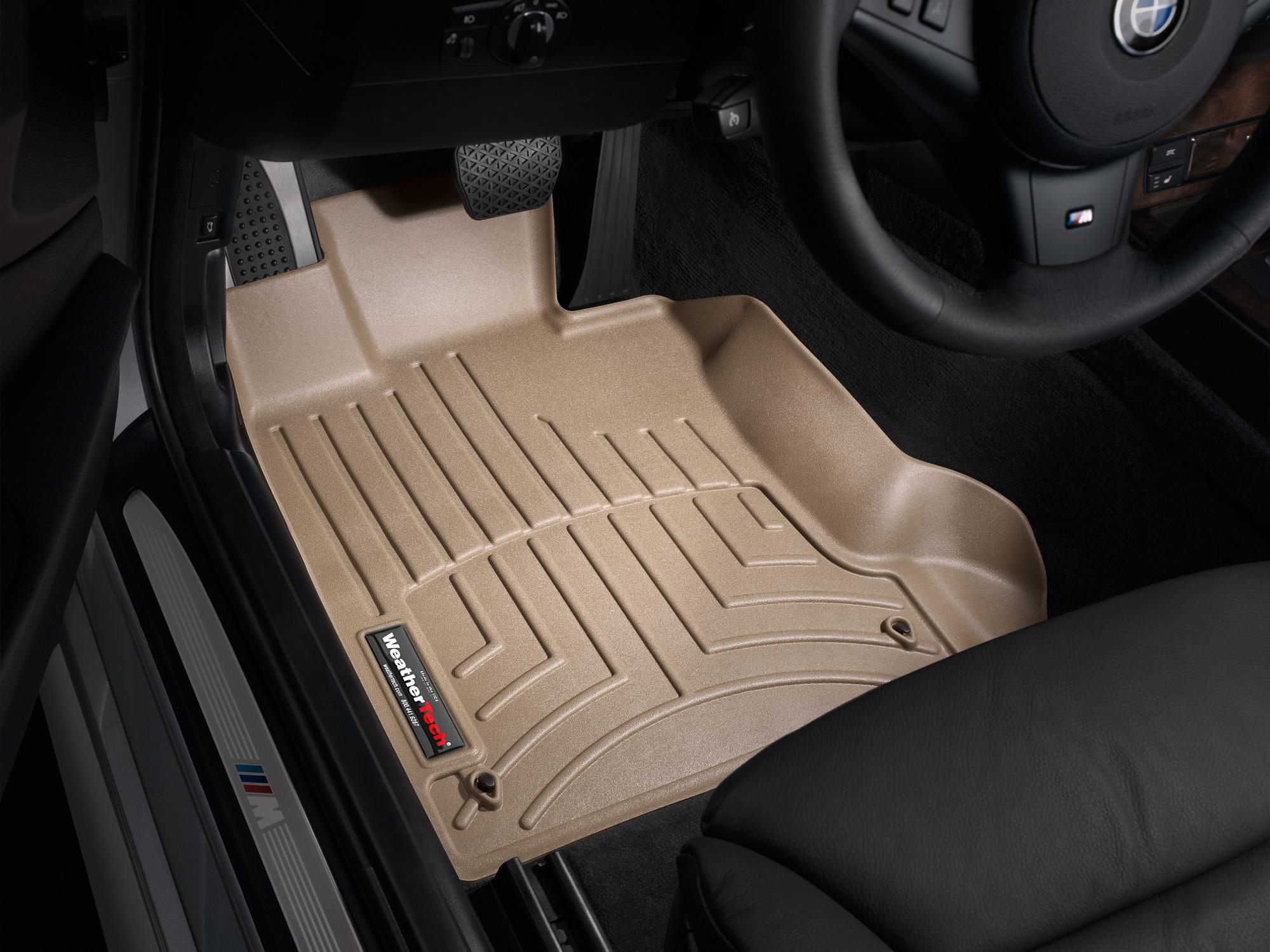 BMW M5 (E60) 06>10 Tappeti gomma su misura bordo alto marrone