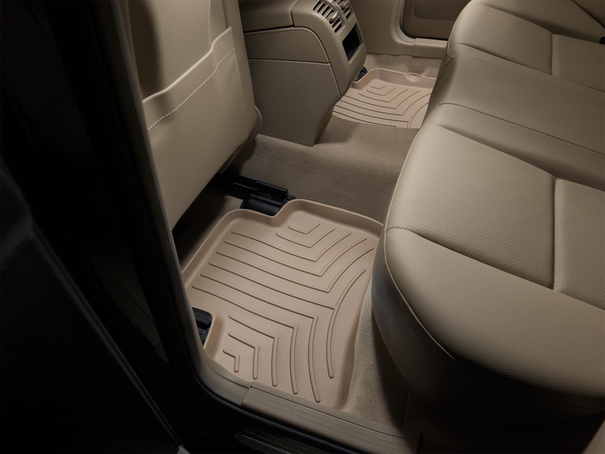 Tappeti gomma su misura bordo alto Mercedes GLK-Class 09>15 Marrone A2493