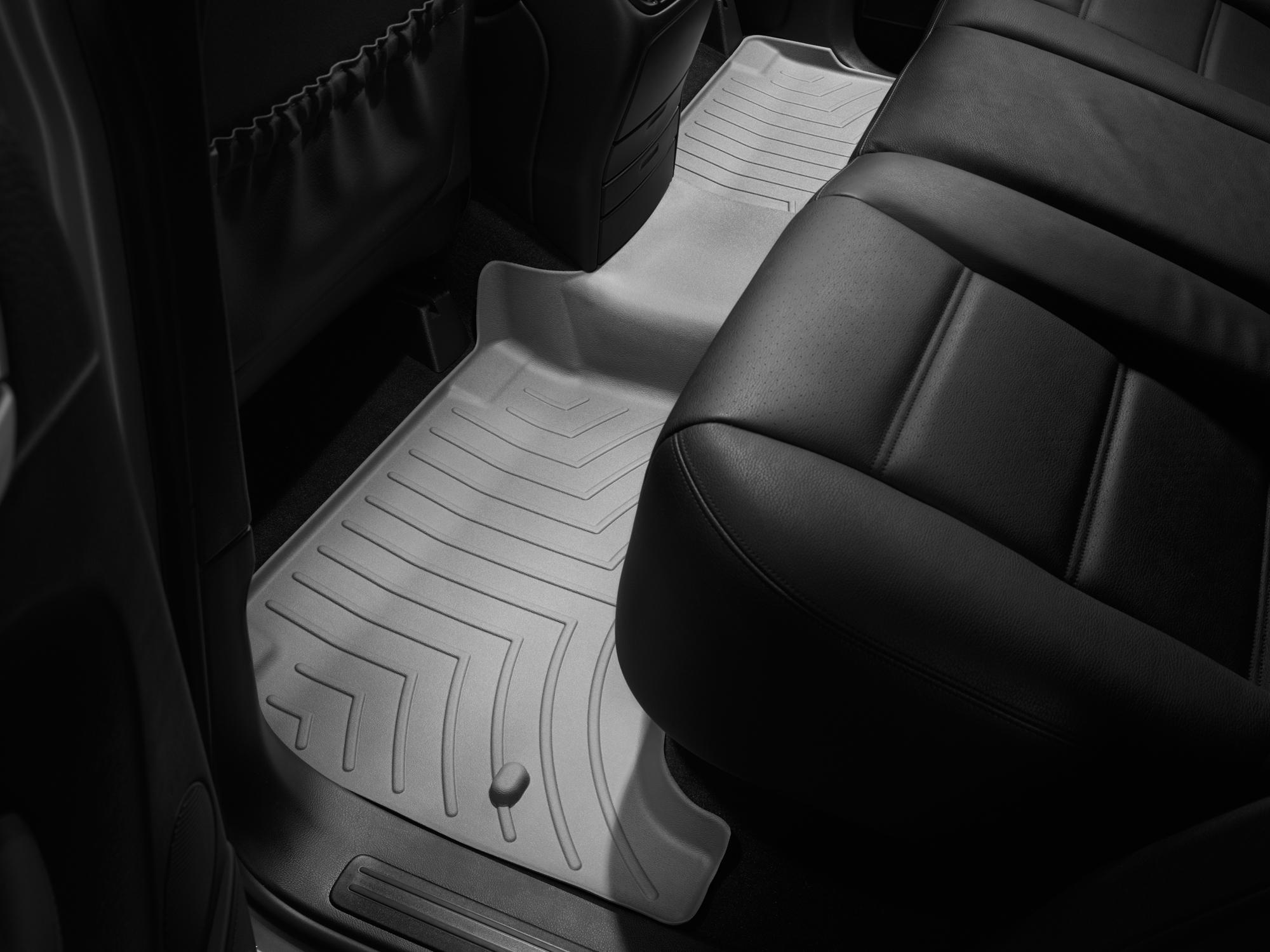 Tappeti gomma su misura bordo alto Volkswagen Touareg 02>06 Grigio A4279*