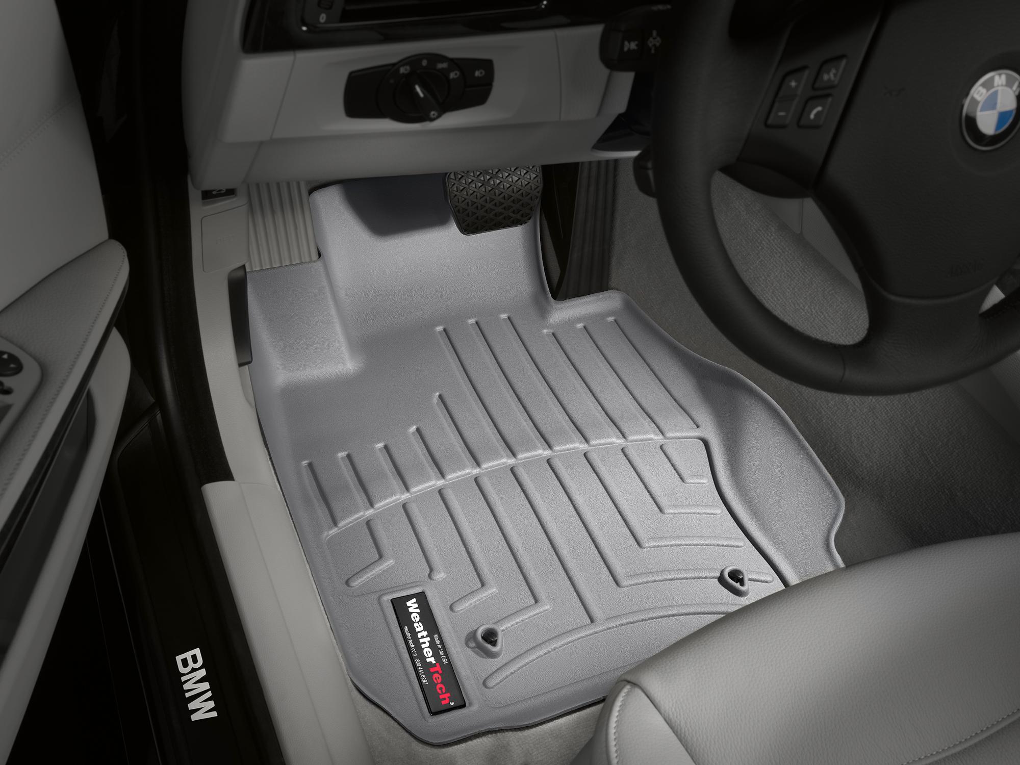 BMW Serie 3 E90/E91/E92/E93 05>12 Tappeti gomma su misura bordo alto grigio