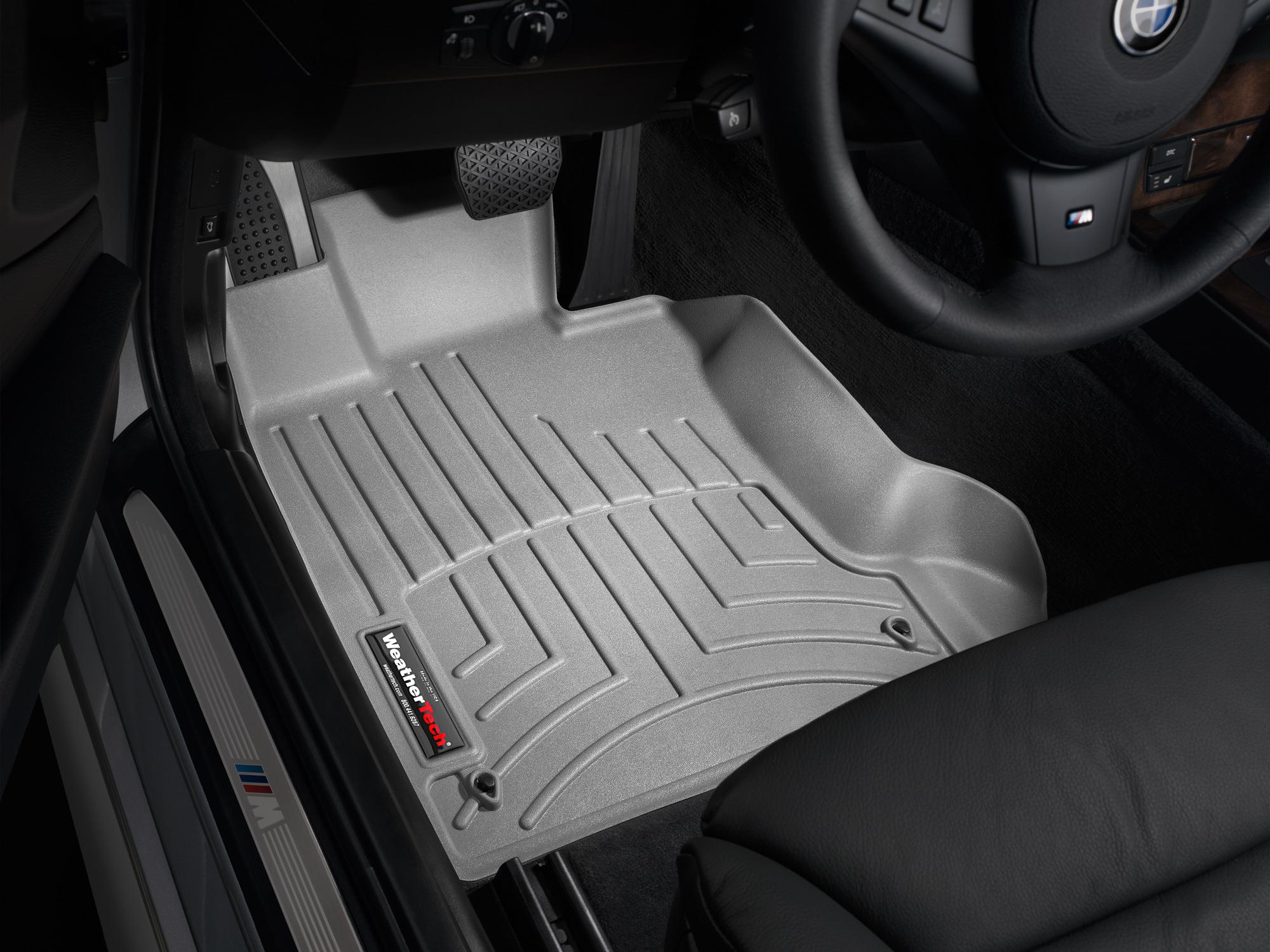 BMW M5 (E60) 06>10 Tappeti gomma su misura bordo alto grigio