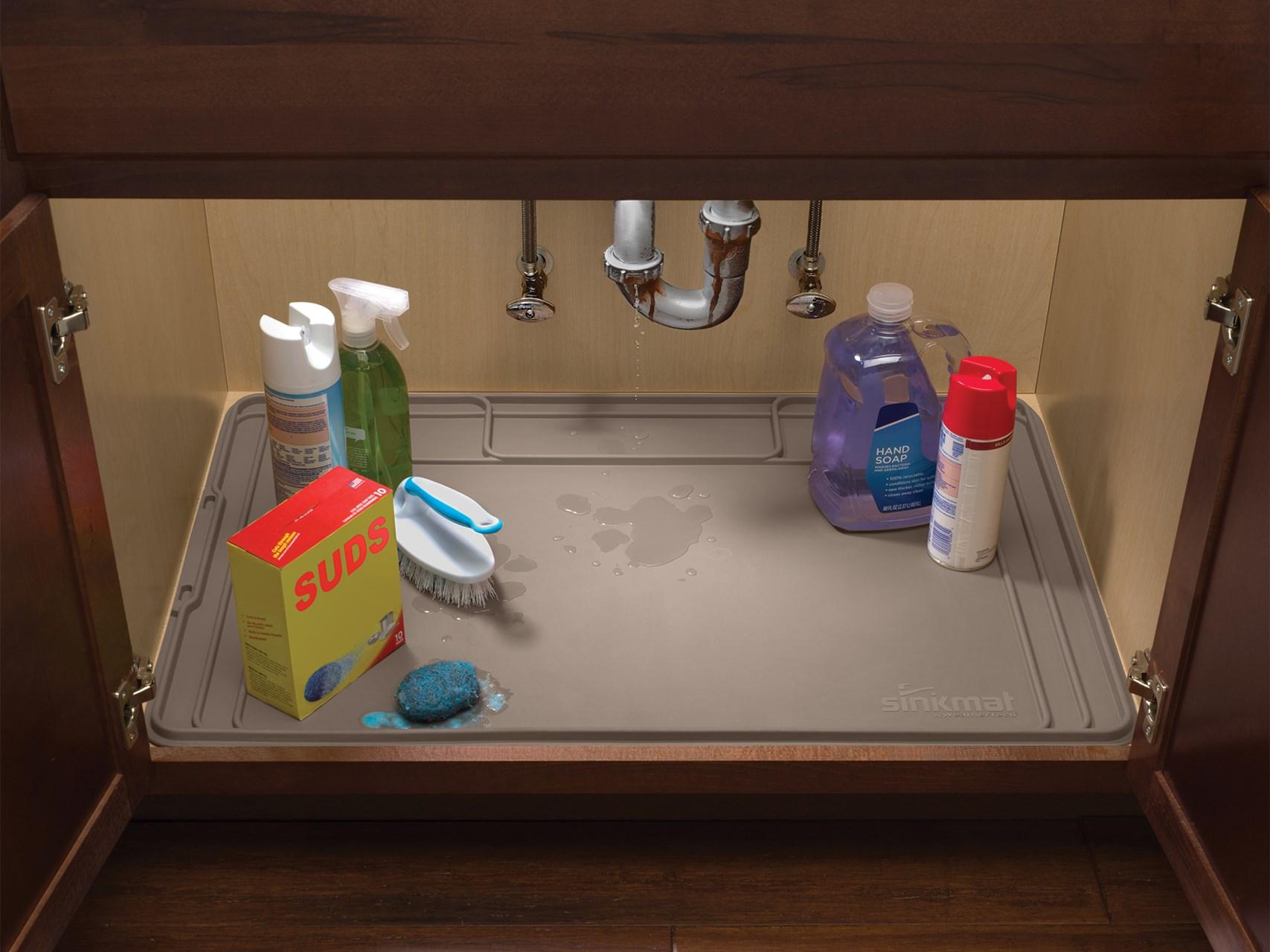 under sink mat blum drawer under sink organizer for kitchen