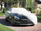 Sunbrella_MB_SL63_CarCover_Pulled_Bck BY WEATHERTECH