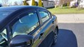 2015 Honda Civic Side Window Deflectors - In-Window-Channel