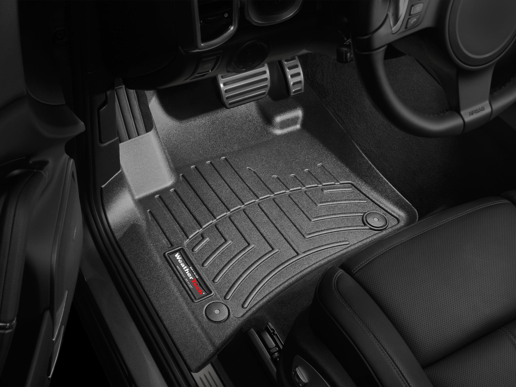 Tappeti gomma su misura bordo alto Volkswagen Touareg 11>17 Nero A4334*