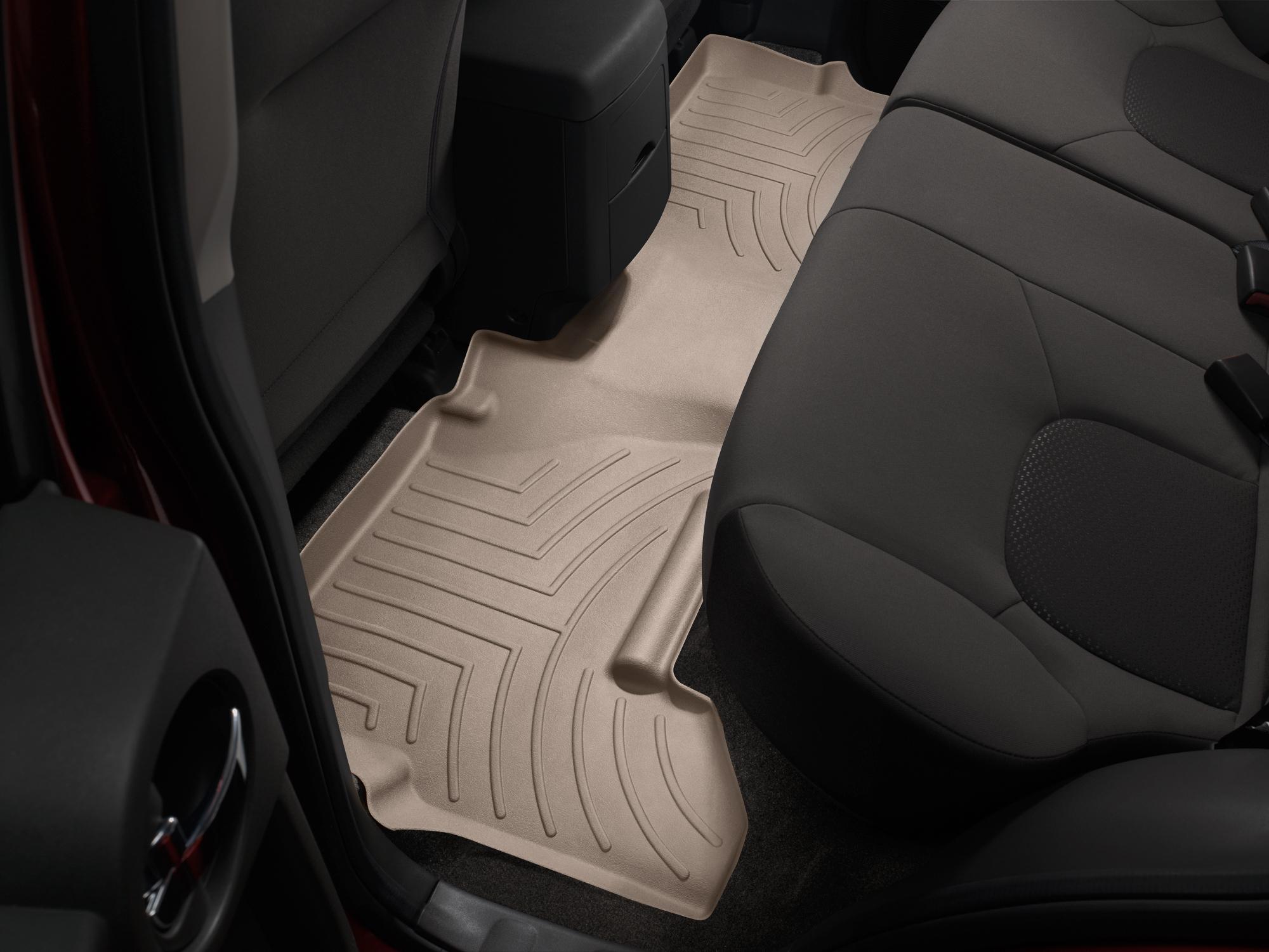 Tappeti gomma su misura bordo alto Nissan Pathfinder 10>15 Marrone A2908
