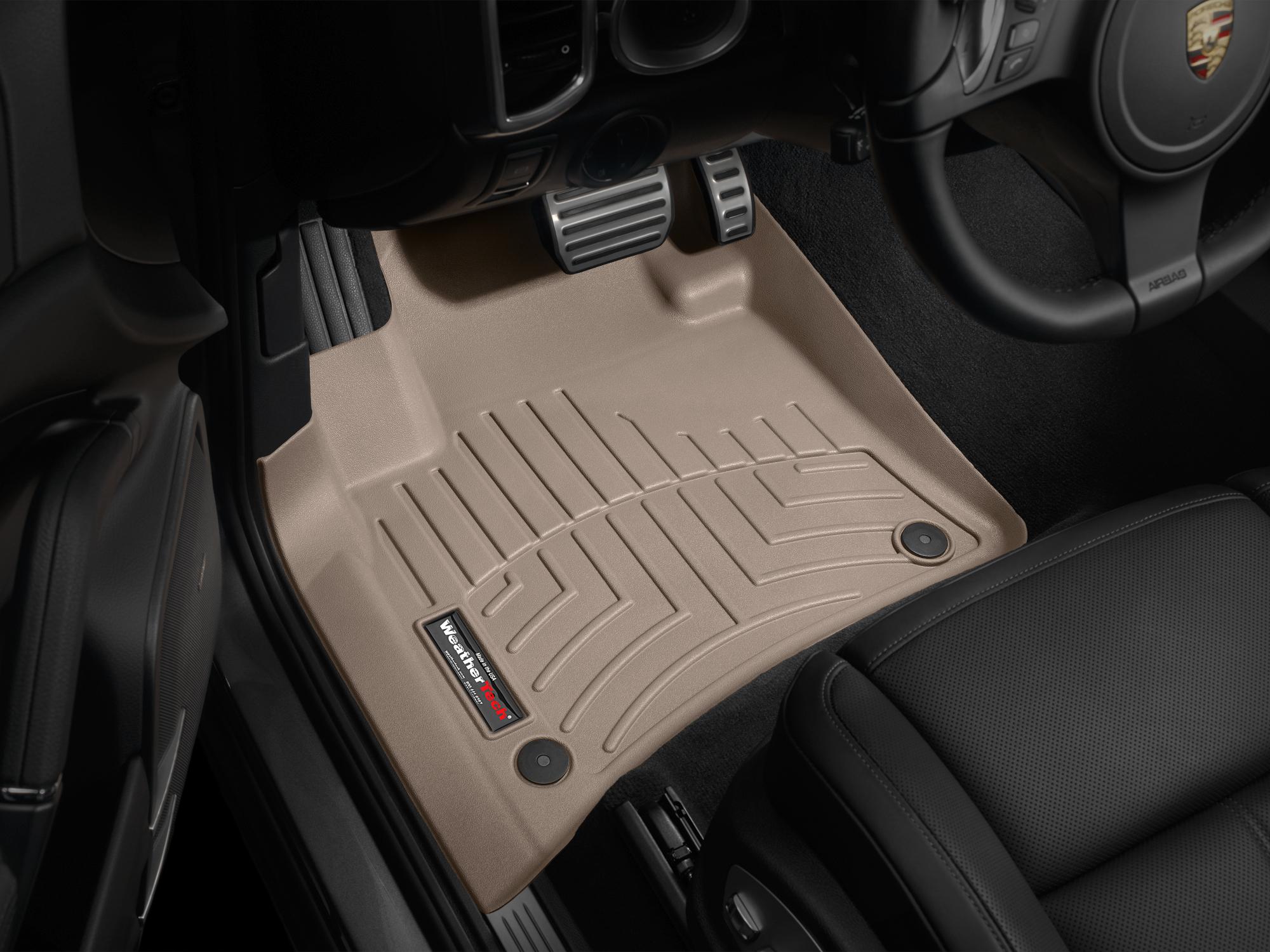 Tappeti gomma su misura bordo alto Volkswagen Touareg 10>10 Marrone A4316*