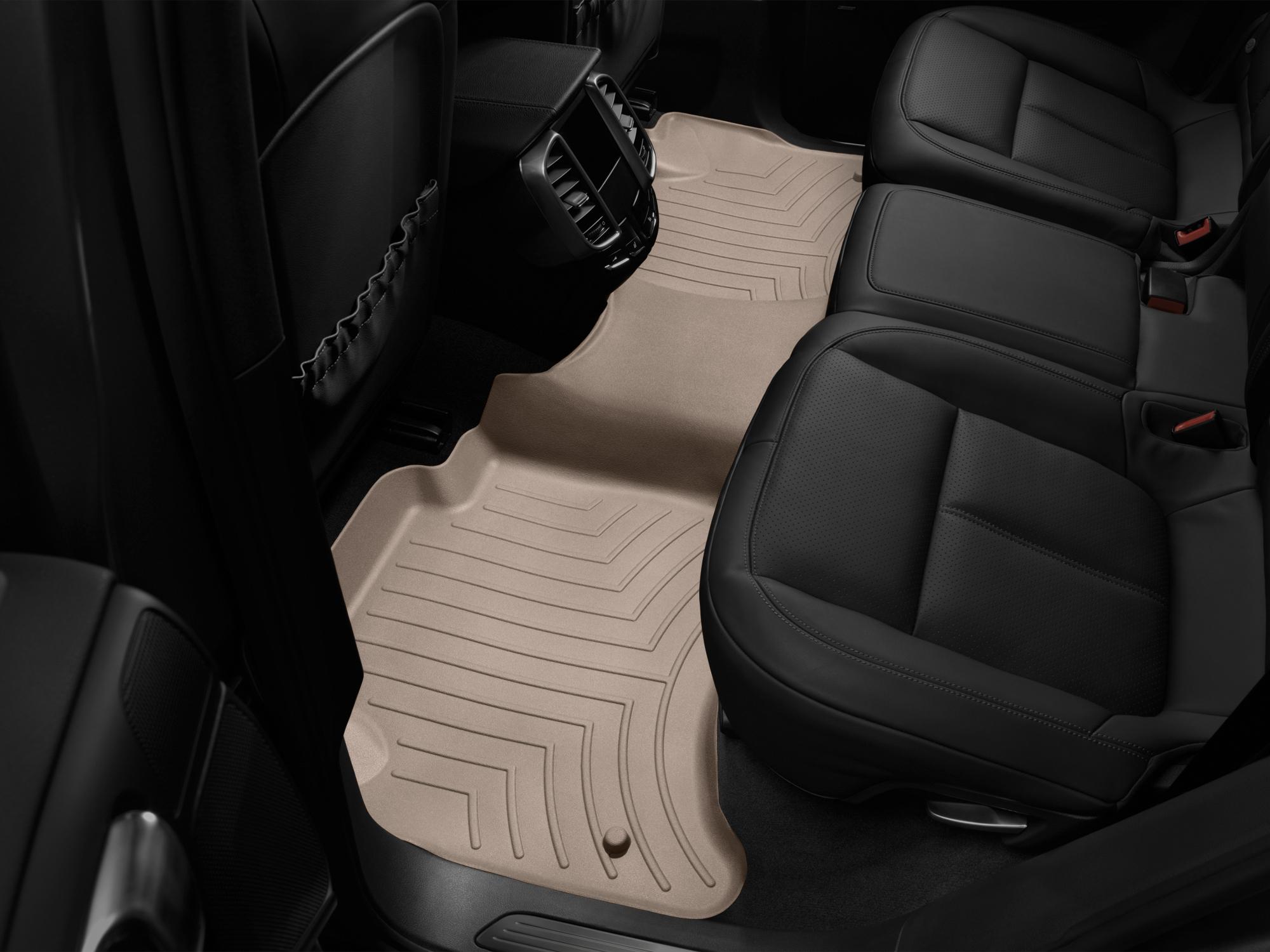 Tappeti gomma su misura bordo alto Volkswagen Touareg 11>17 Marrone A4333*
