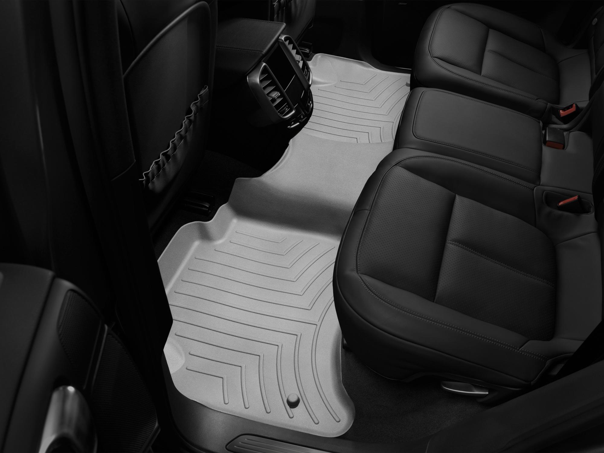 Tappeti gomma su misura bordo alto Volkswagen Touareg 11>17 Grigio A4330*