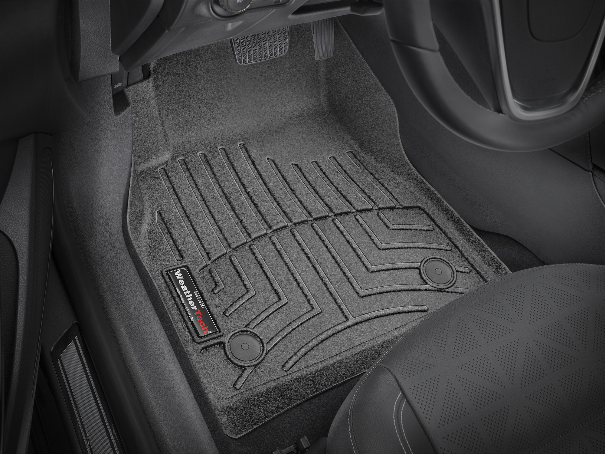 Tappeti gomma su misura bordo alto Opel Astra 15>15 Nero A2968
