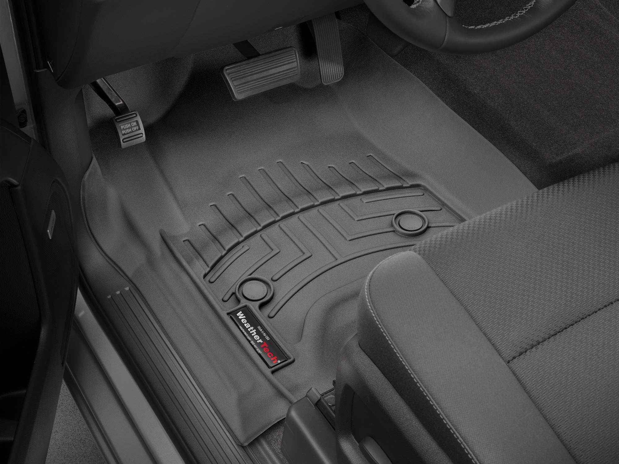 Tappeti gomma su misura bordo alto Chevrolet Silverado 15>17 Nero A200