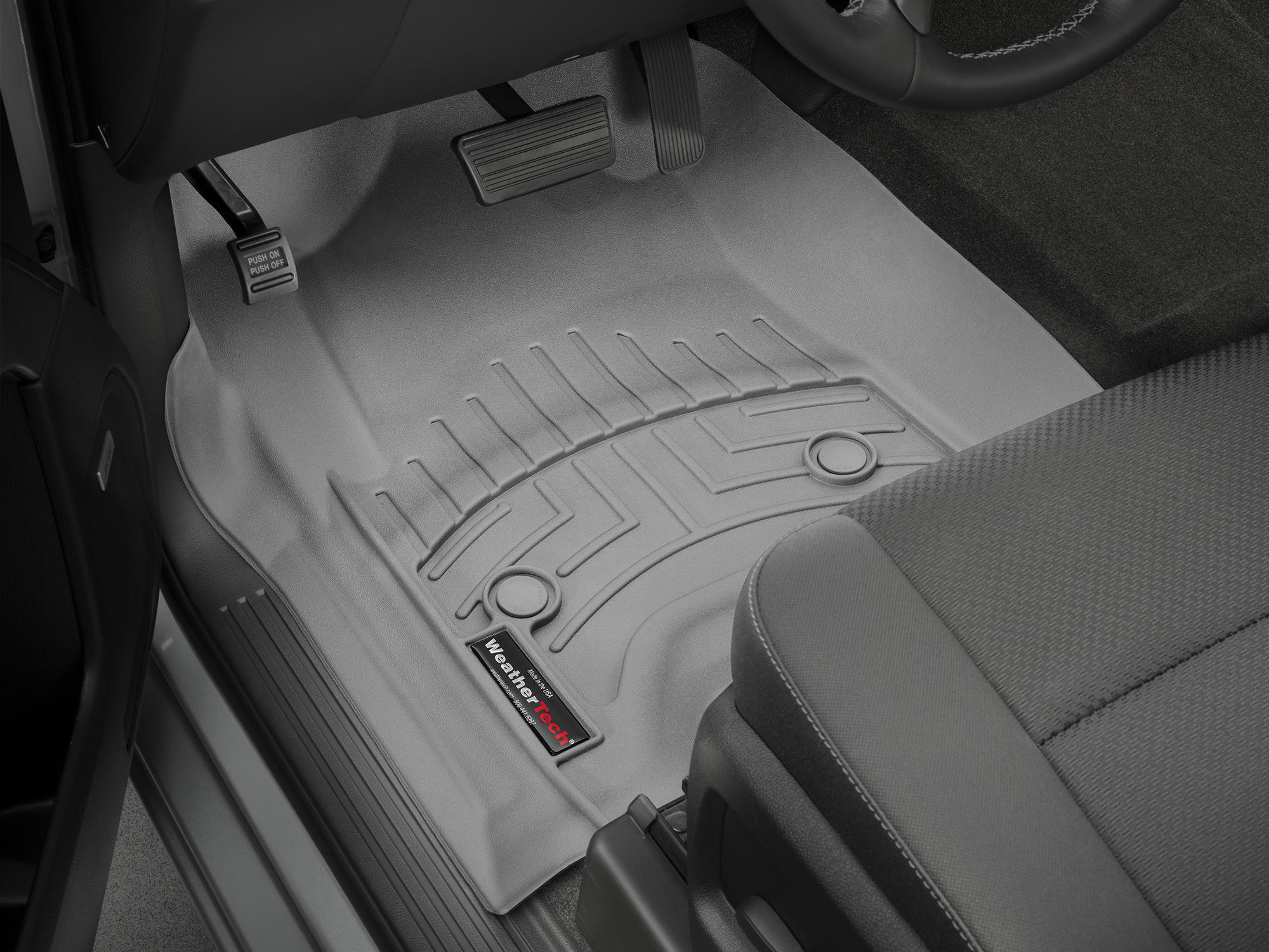 Tappeti gomma su misura bordo alto Chevrolet Silverado 14>17 Grigio A193