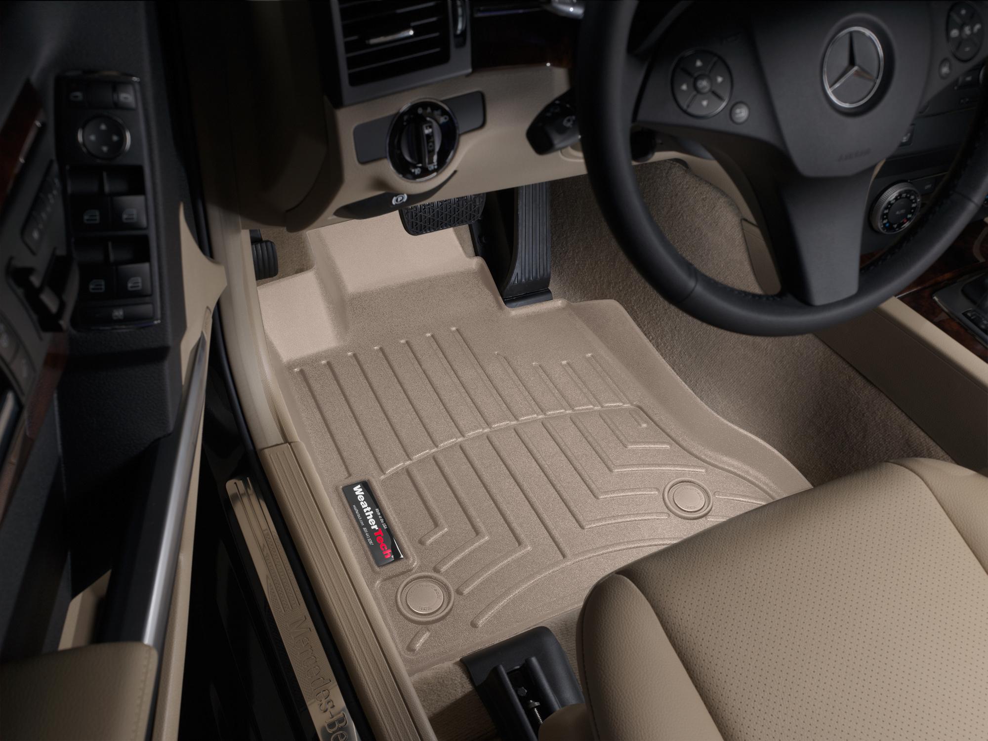 Tappeti gomma su misura bordo alto Mercedes GLK-Class 12>12 Marrone A2498