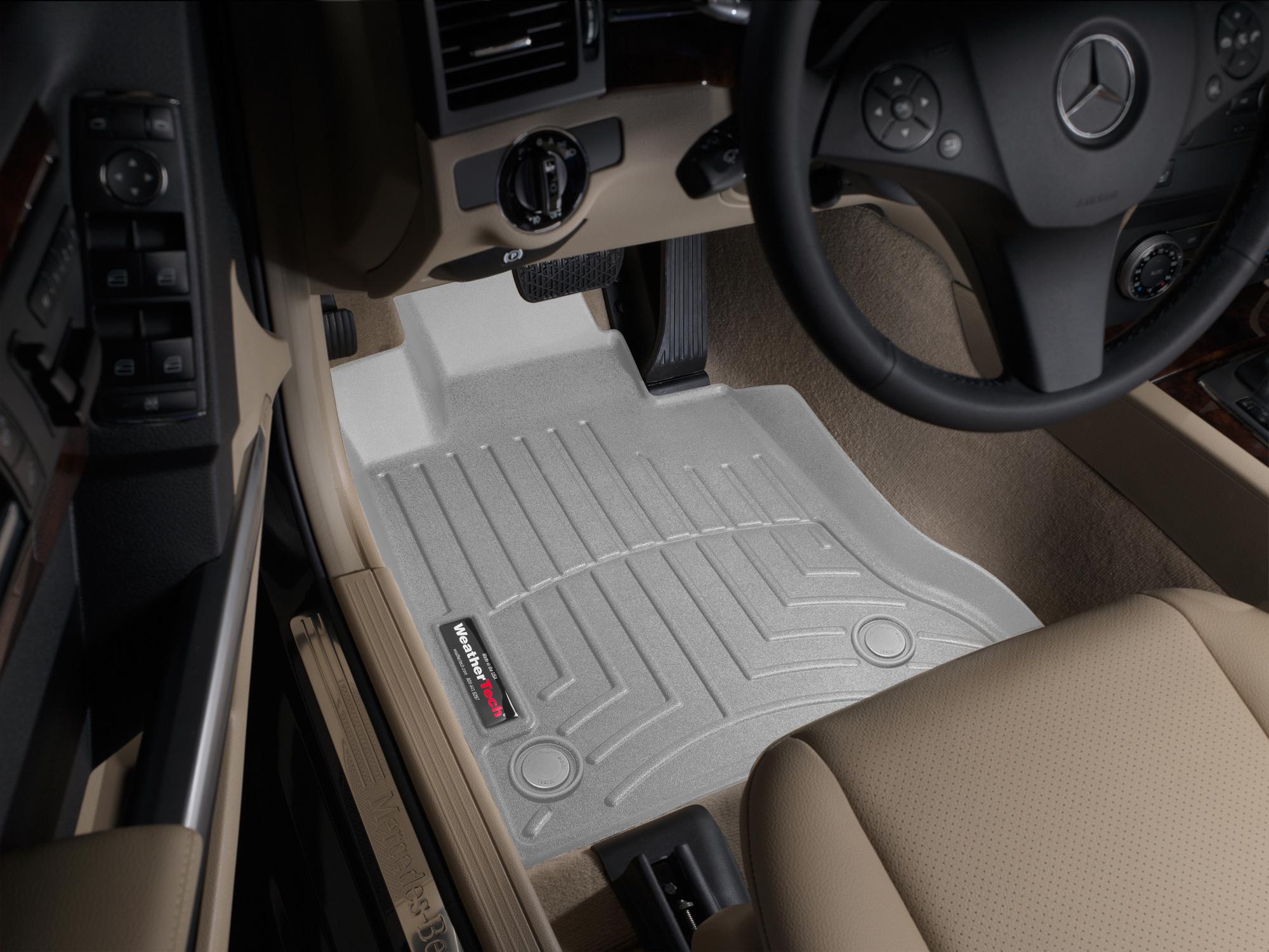Tappeti gomma su misura bordo alto Mercedes GLK-Class 09>11 Grigio A2486