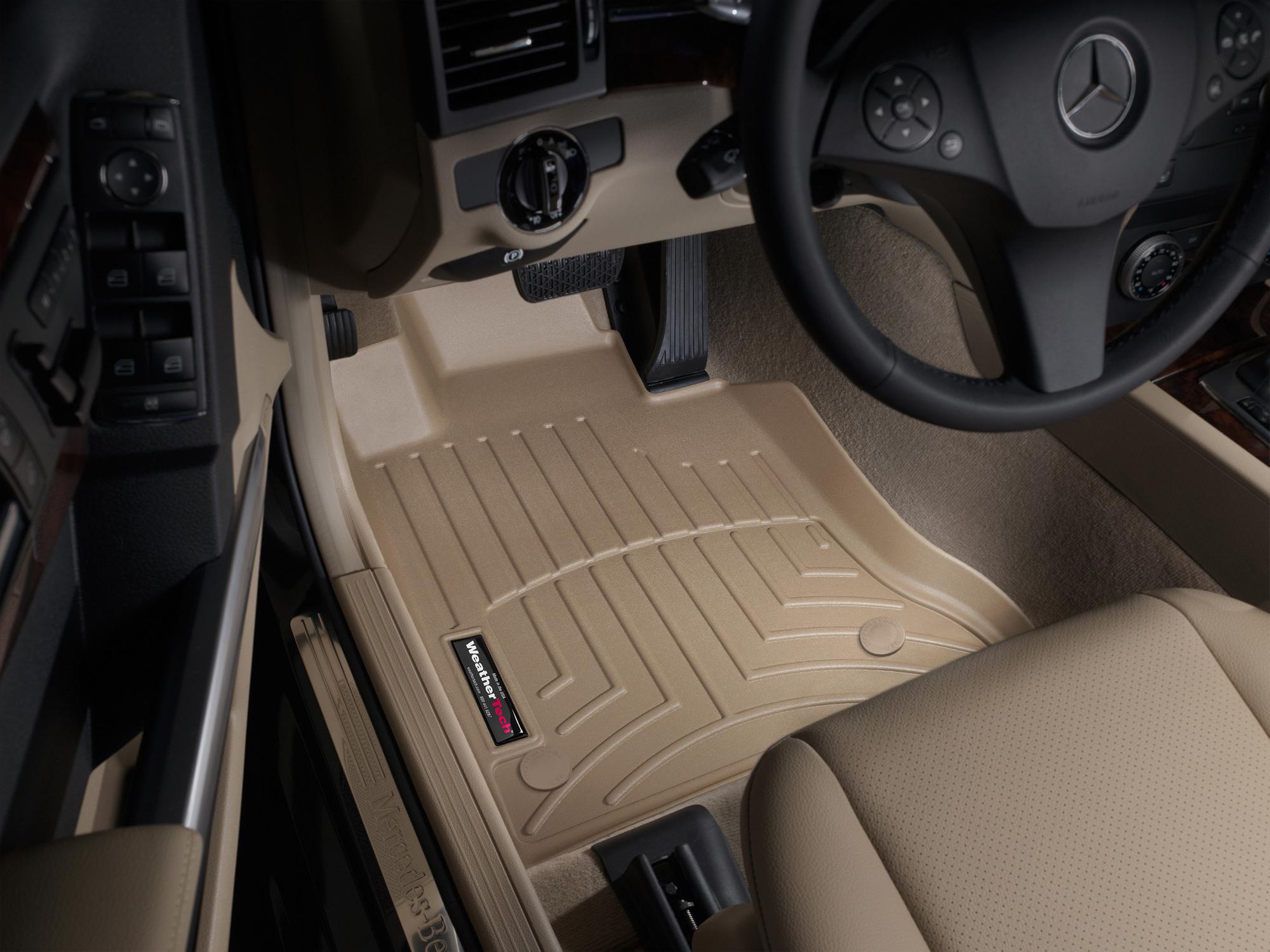 Tappeti gomma su misura bordo alto Mercedes GLK-Class 13>15 Marrone A2505