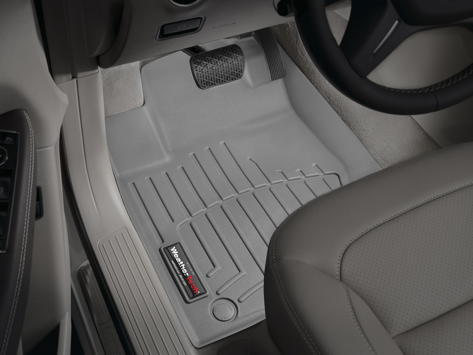 Tappeti gomma su misura bordo alto Mercedes ML-Class 12>15 Grigio A2534