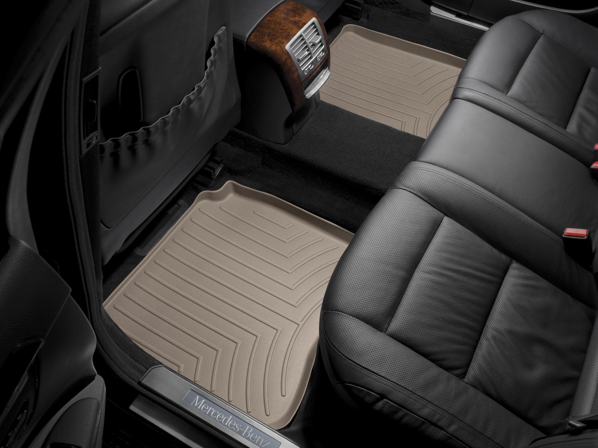 Tappeti gomma su misura bordo alto Mercedes S-Class 06>12 Marrone A2558