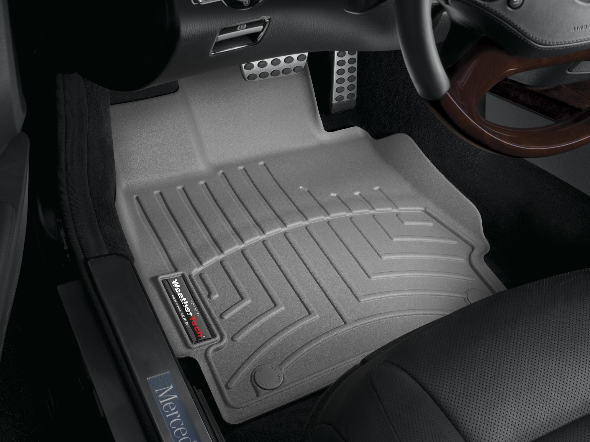 Tappeti gomma su misura bordo alto Mercedes S-Class 06>12 Grigio A2552