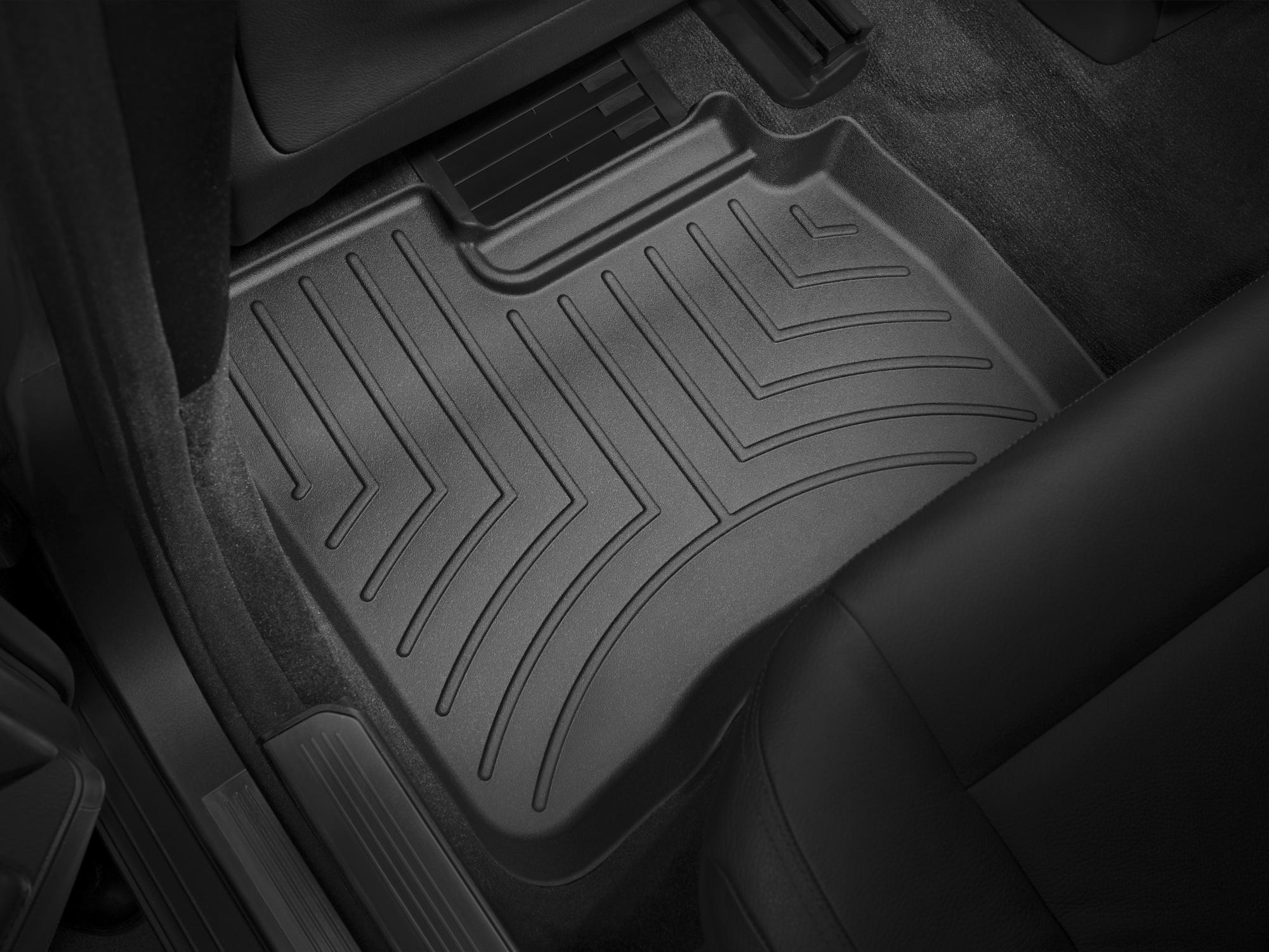 Tappeti gomma su misura bordo alto Mercedes S-Class 06>12 Nero A2563